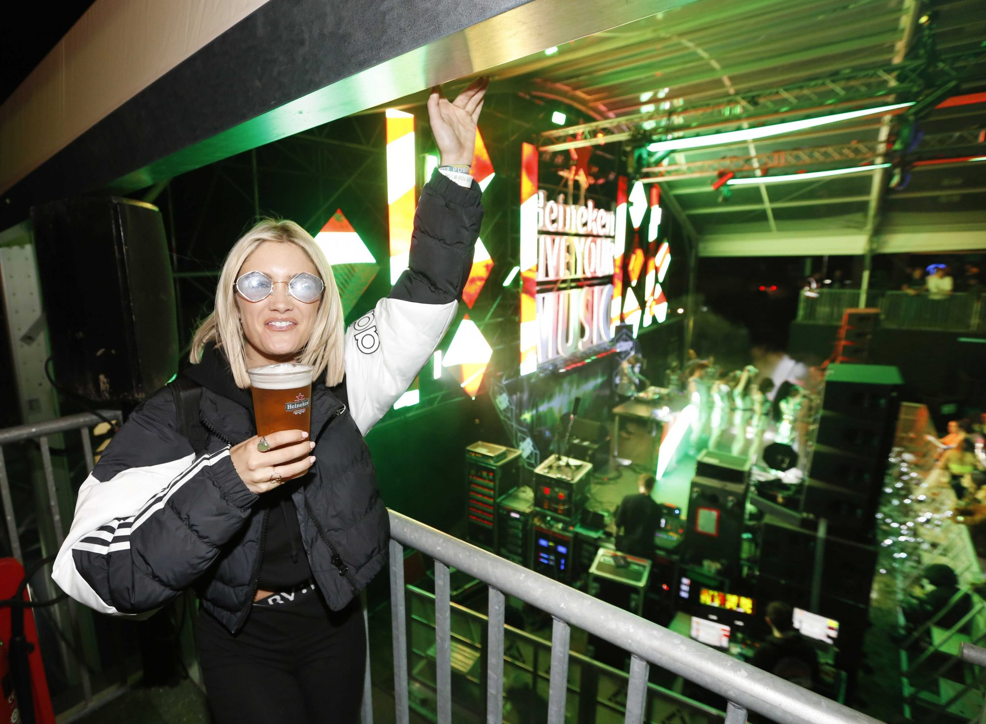 NO REPRO FEE 30/08/2019 Heineken Live Your Music Stage at Electric Picnic 2019. Pictured is Niamh Cullen at the Heineken Live Your Music Stage at Electric Picnic 2019. This year's area is an enormous structure on two levels, with a glass roof that will keep festival-goers dry but let them dance beneath the sun and stars! The immersive and interactive lightshow has been reimagined for 2019 which, combined with the state-of-the-art soundsystem, make Live Your Music the most impressive festival stage in the country. Photo: Sasko Lazarov/Phorocall Ireland