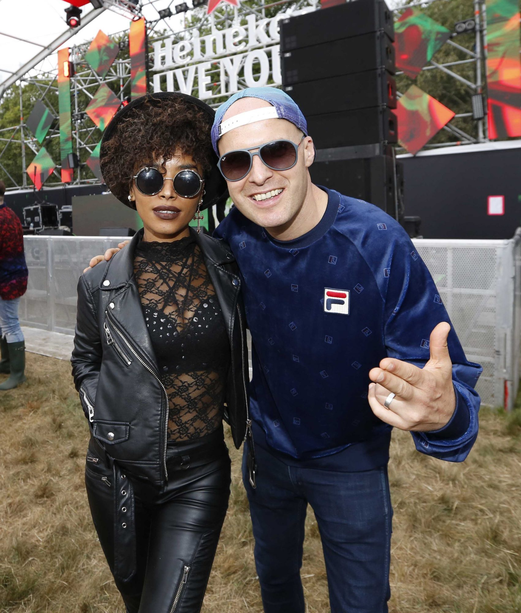 NO REPRO FEE 30/08/2019 Heineken Live Your Music Stage at Electric Picnic 2019. Pictured are (LtoR) Stevie G & Andrea Williams at the Heineken Live Your Music Stage at Electric Picnic 2019. This year's area is an enormous structure on two levels, with a glass roof that will keep festival-goers dry but let them dance beneath the sun and stars! The immersive and interactive lightshow has been reimagined for 2019 which, combined with the state-of-the-art soundsystem, make Live Your Music the most impressive festival stage in the country. Photo: Sasko Lazarov/Phorocall Ireland