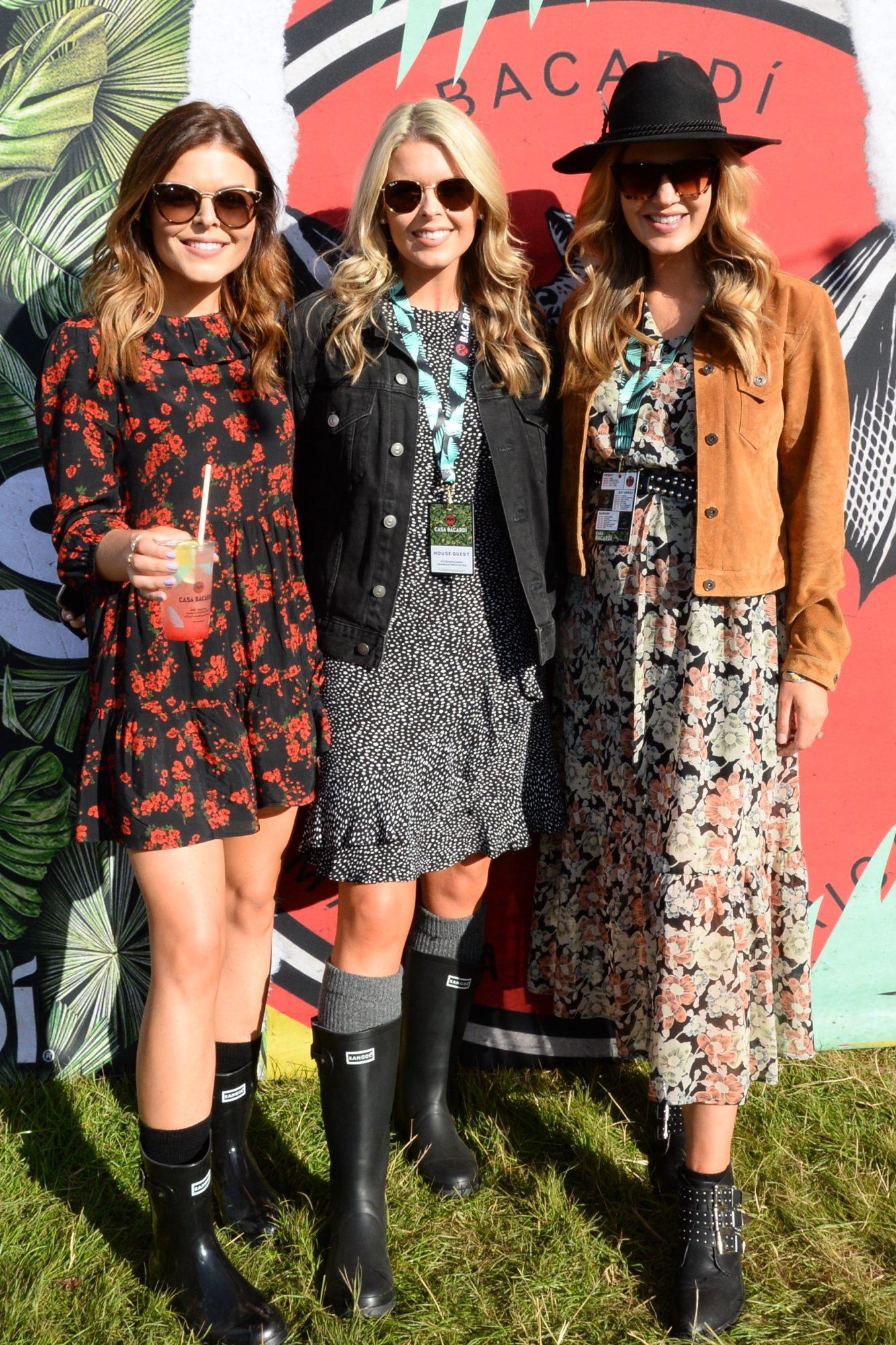 31st August 2019. Doireann, Ailbhe and Aoibhin Garrihy pictured at Casa Bacardi on day 2 of Electric Picnic. Photo: Justin Farrelly.