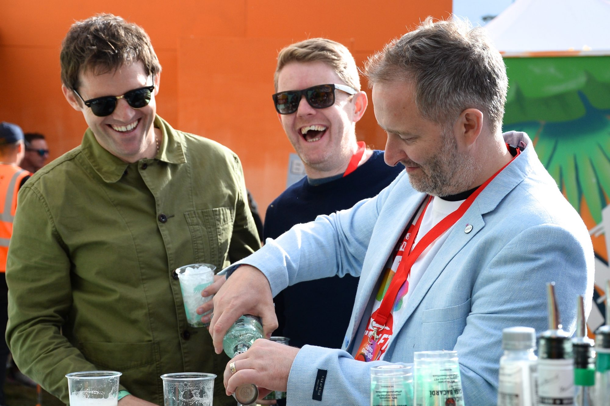 31st August 2019. Kevin Kilbane and the Off the Ball lads pictured at Casa Bacardi on day 2 of Electric Picnic. Photo: Justin Farrelly.