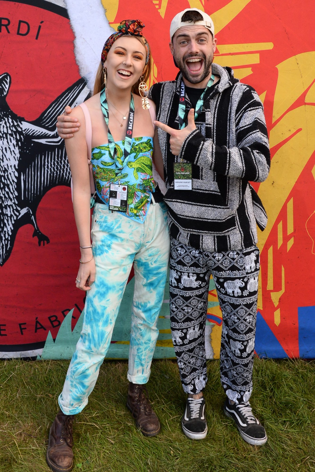 31st August 2019. Eadaoin Fitzmaurice and John Sharpson pictured at Casa Bacardi on day 2 of Electric Picnic. Photo: Justin Farrelly.