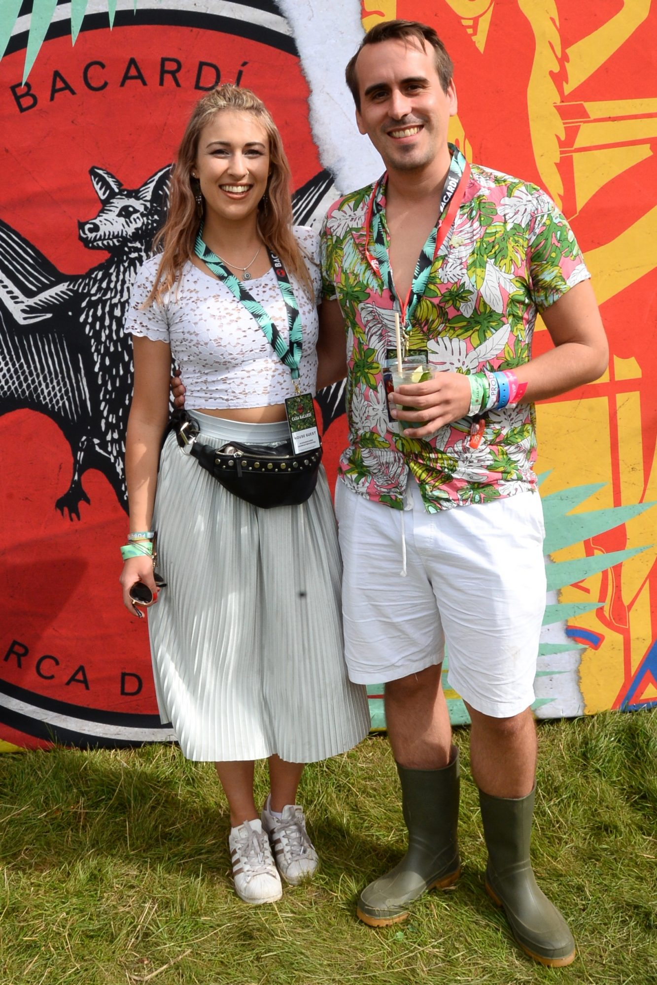 31st August 2019.  Ciara Maher and Tim Schroder pictured at Casa Bacardi on day 2 of Electric Picnic. Photo: Justin Farrelly.
