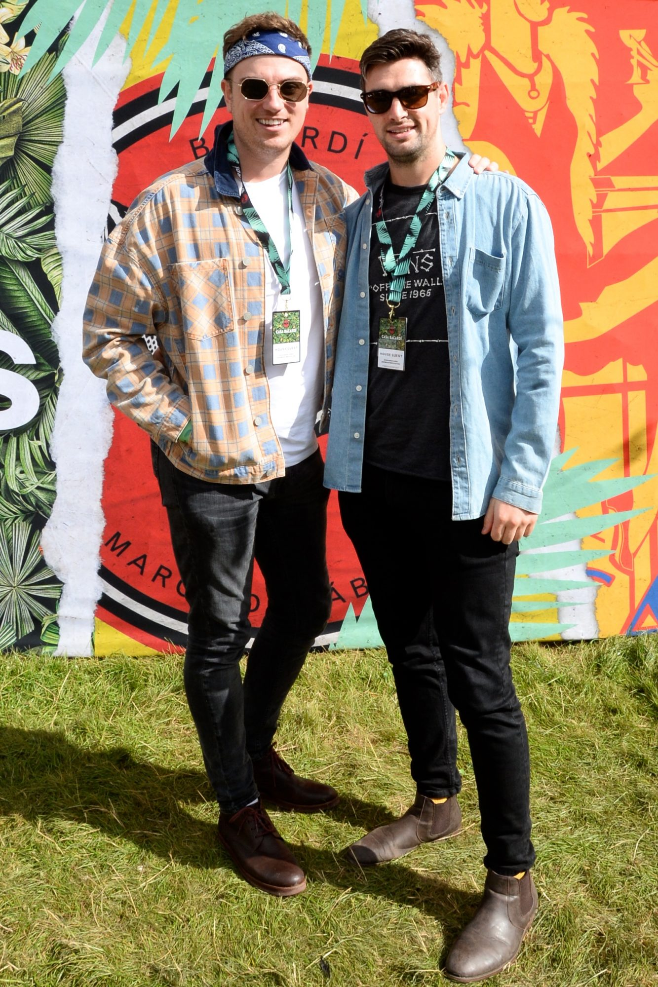 31st August 2019. Alan Cawley and Jamie Lynch pictured at Casa Bacardi on day 2 of Electric Picnic. Photo: Justin Farrelly.