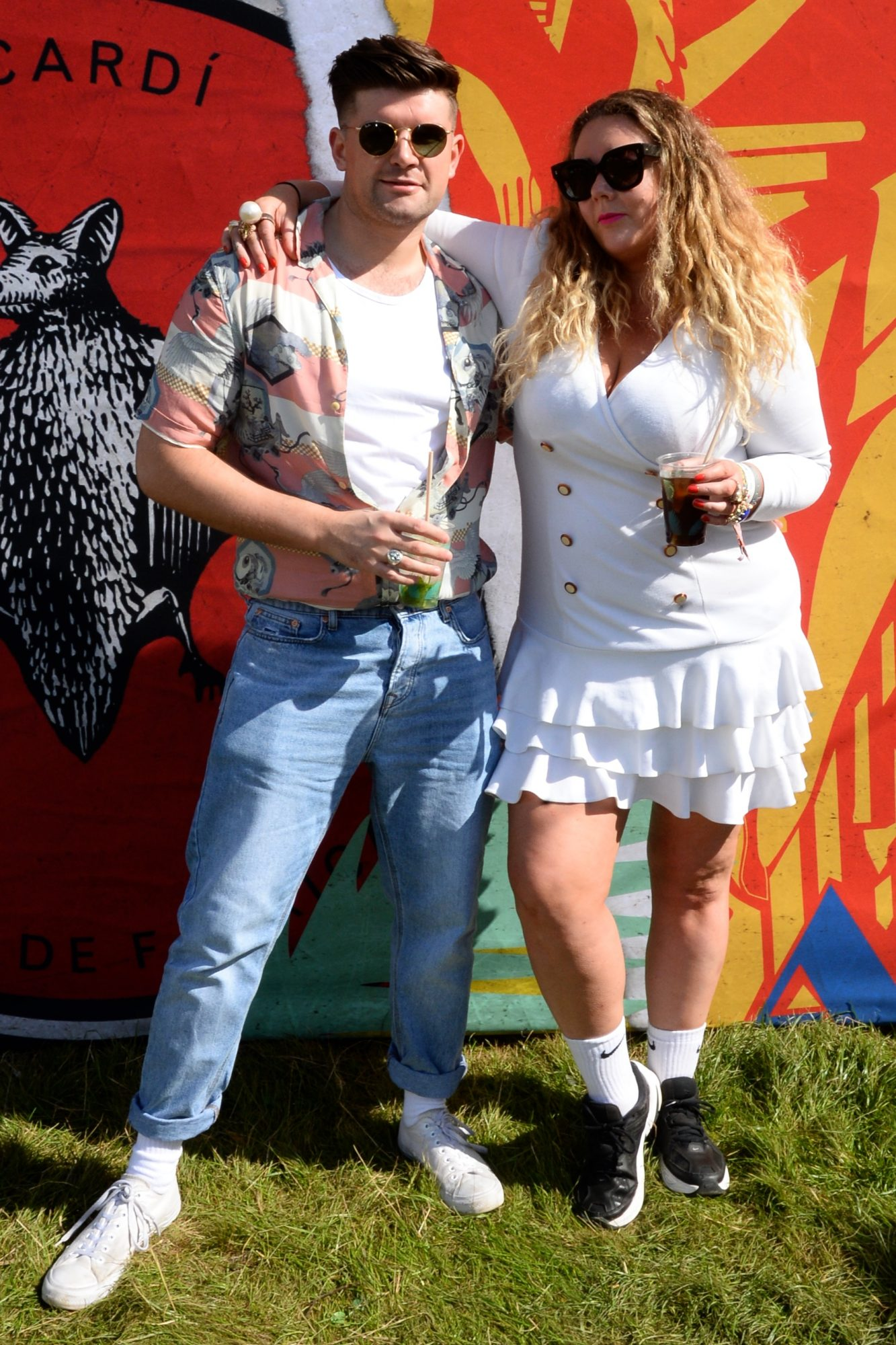 31st August 2019. Mark Oliver and Andrea Horan pictured at Casa Bacardi on day 2 of Electric Picnic. Photo: Justin Farrelly.