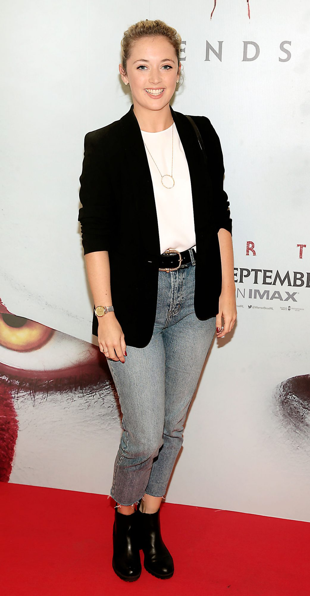 Niamh Branigan at the Irish premiere of IT Chapter 2 at the Odeon Cinema in Point Square, Dublin. Pic: Brian McEvoy.