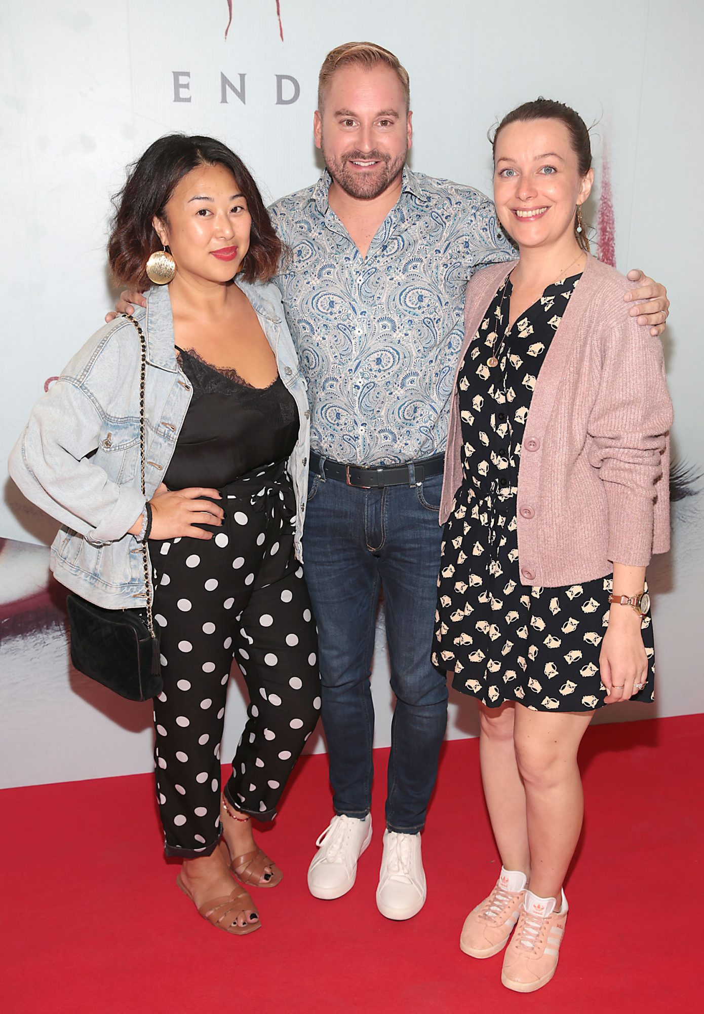 Judy Wong, Ian Packham and Lisa Scott at the Irish premiere of IT Chapter 2 at the Odeon Cinema in Point Square, Dublin. Pic: Brian McEvoy.