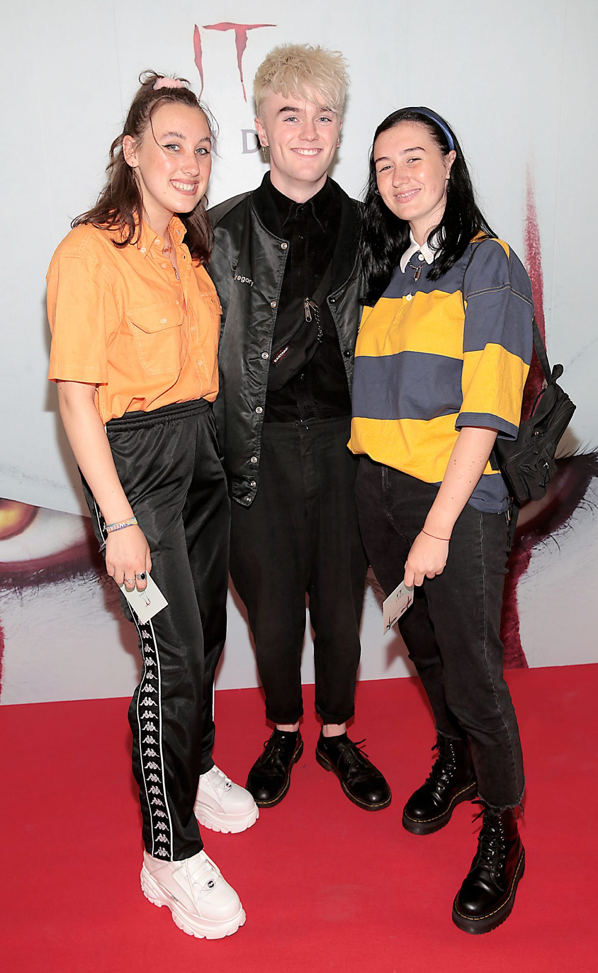 Katelyn Markham, Thomas Moore and Madison Cawley at the Irish premiere of IT Chapter 2 at the Odeon Cinema in Point Square, Dublin. Pic: Brian McEvoy.