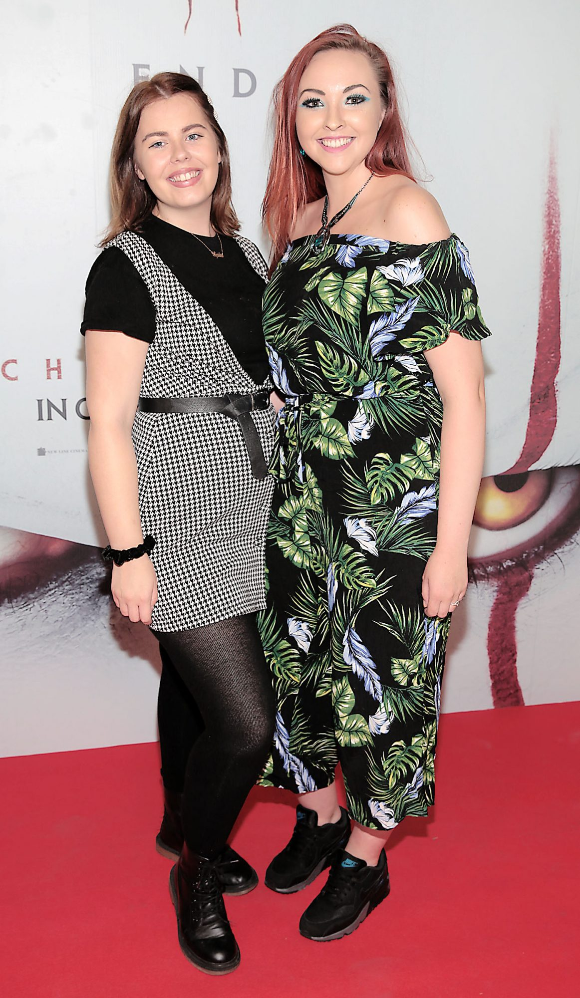 Sophie Howard and Sinead Kinsella at the Irish premiere of IT Chapter 2 at the Odeon Cinema in Point Square, Dublin. Pic: Brian McEvoy.
