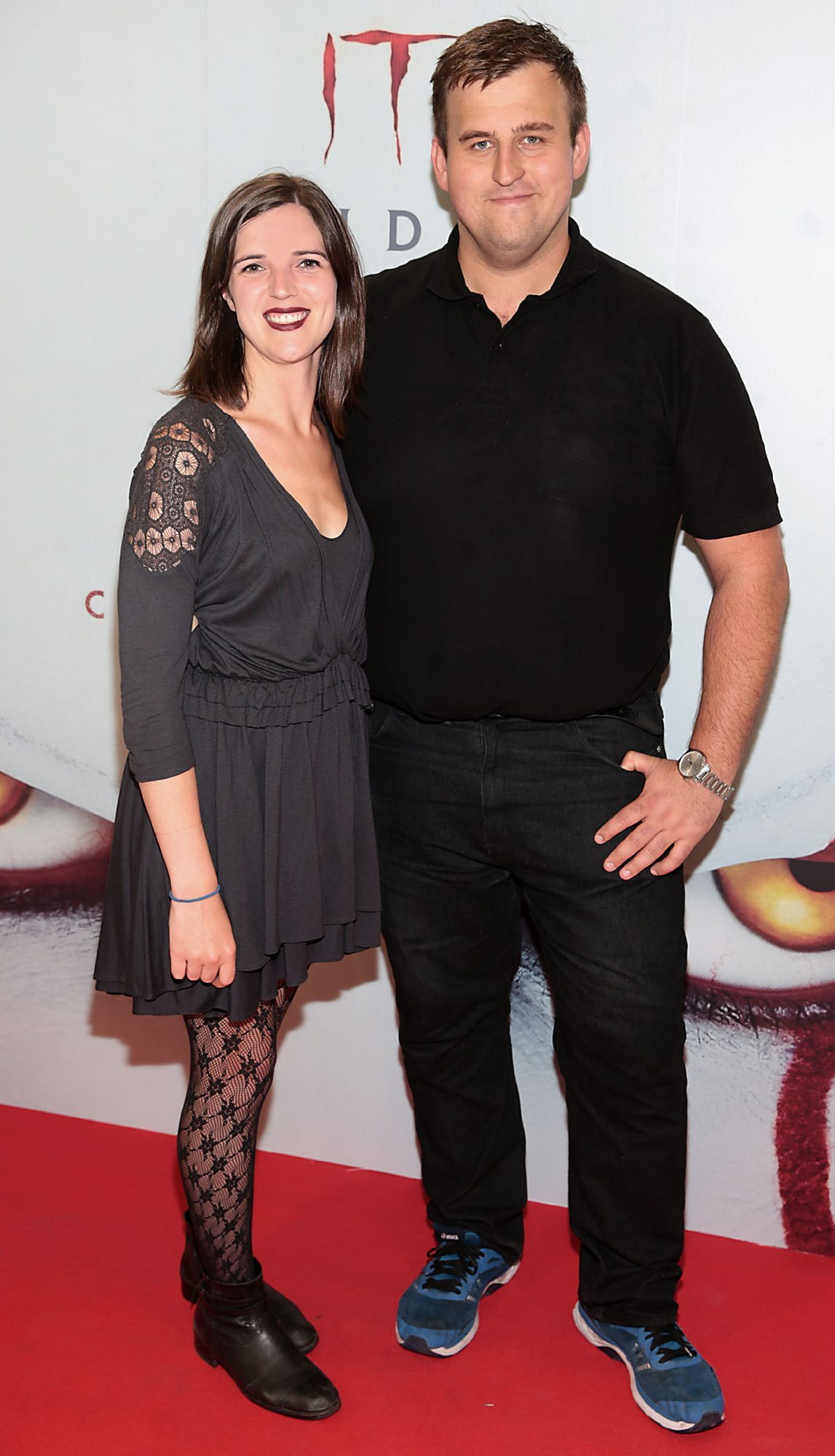 Deirdre Molumby and Ivan Baburin at the Irish premiere of IT Chapter 2 at the Odeon Cinema in Point Square, Dublin.