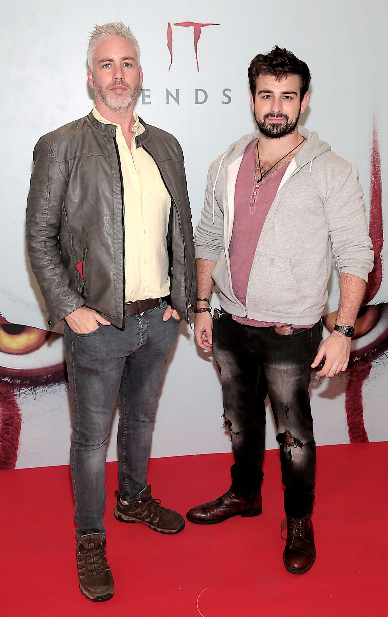 Patrick Murphy and Ben O Beirne at the Irish premiere of IT Chapter 2 at the Odeon Cinema in Point Square, Dublin. Pic: Brian McEvoy.