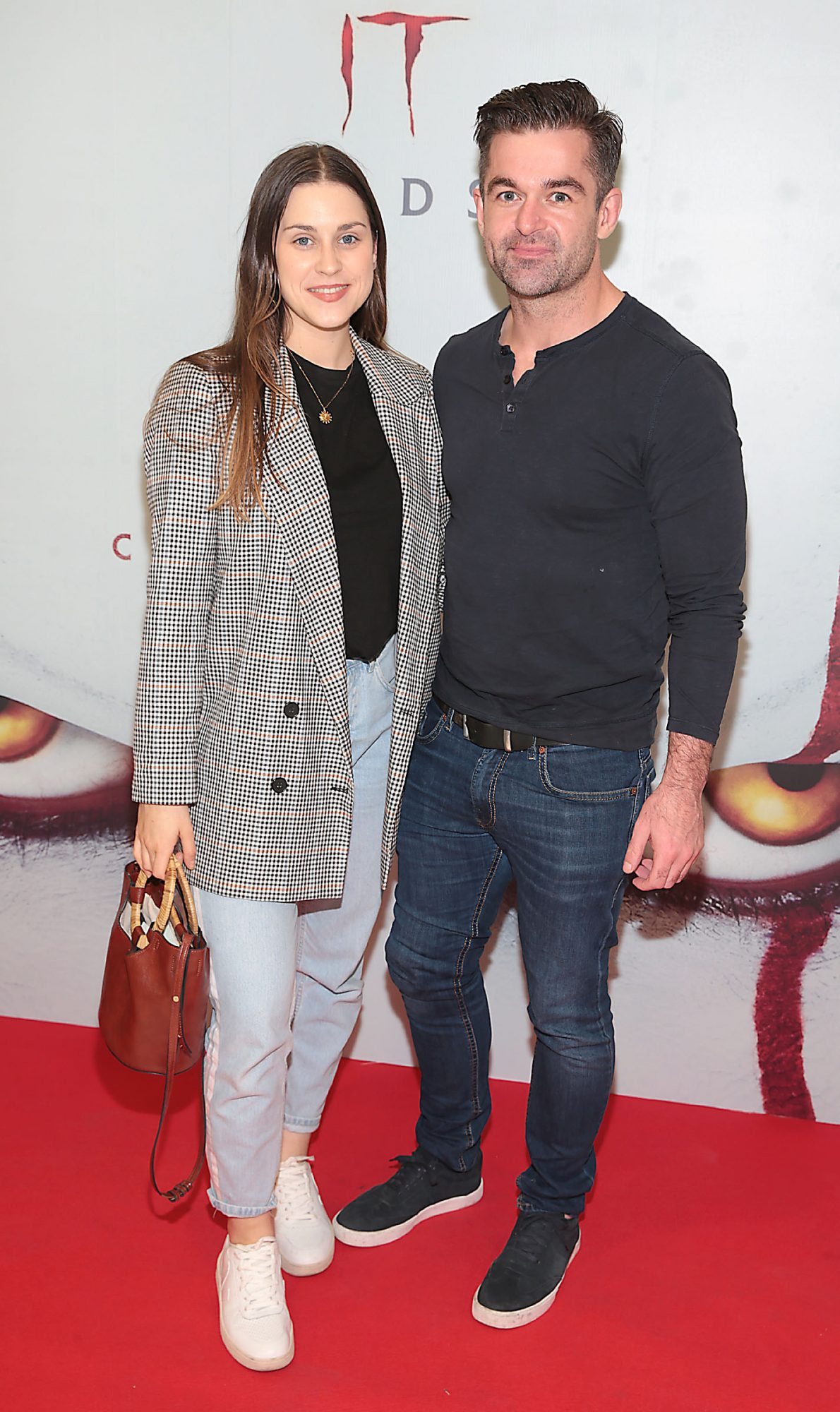 Jo Linehan and Mike Sheridan at the Irish premiere of IT Chapter 2 at the Odeon Cinema in Point Square, Dublin. Pic: Brian McEvoy.