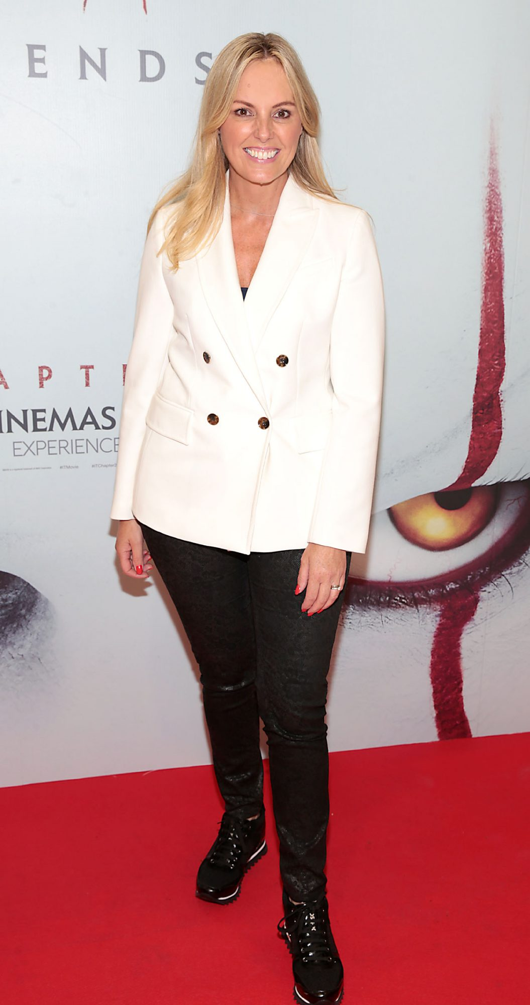 Jenny McCarthy at the Irish premiere of IT Chapter 2 at the Odeon Cinema in Point Square, Dublin. Pic: Brian McEvoy.