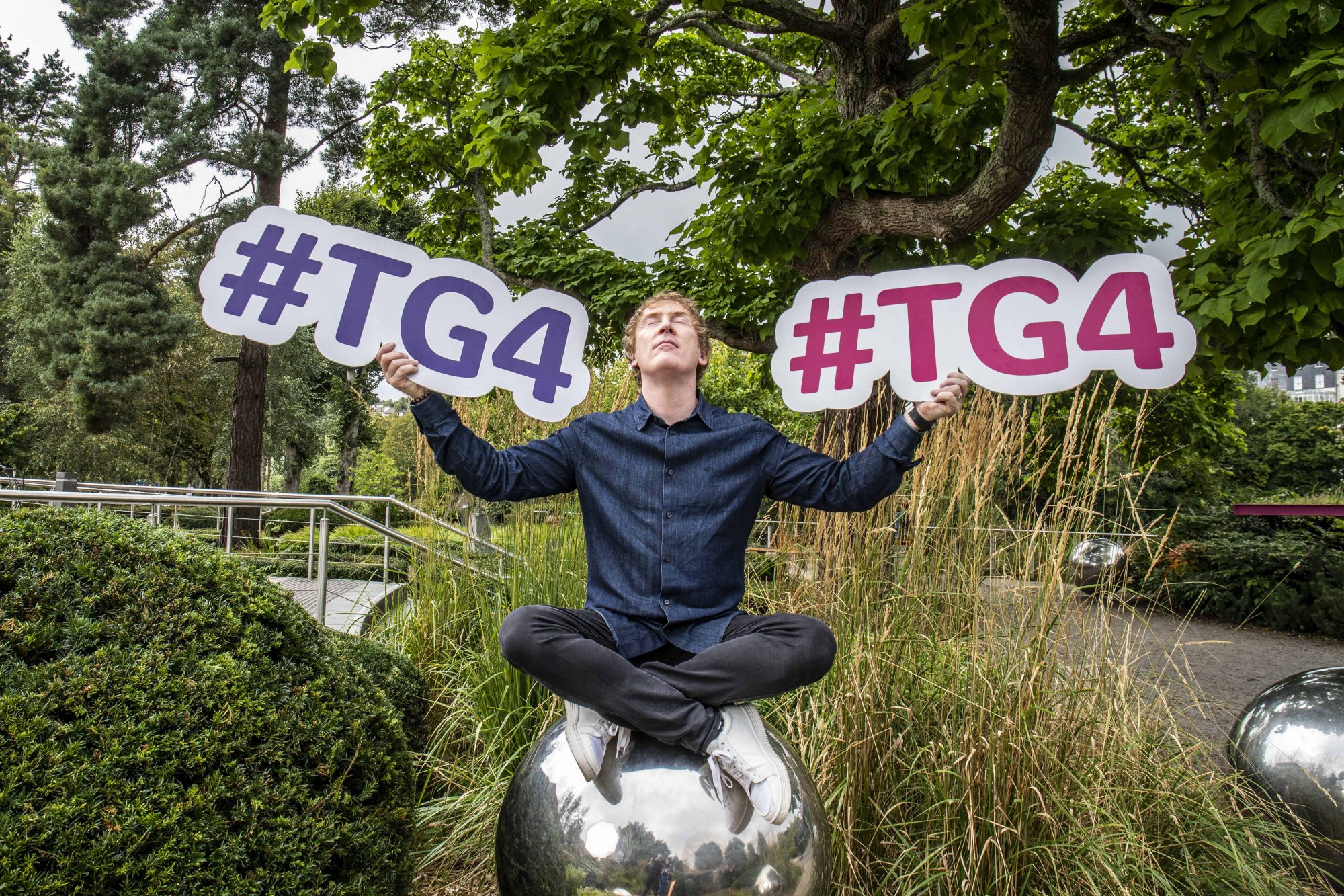 Hector Ó hEochagáin pictured at TG4's Autumn Schedule Launch in the stunning Fitzgerald Park in Cork.  Picture Clare Keogh