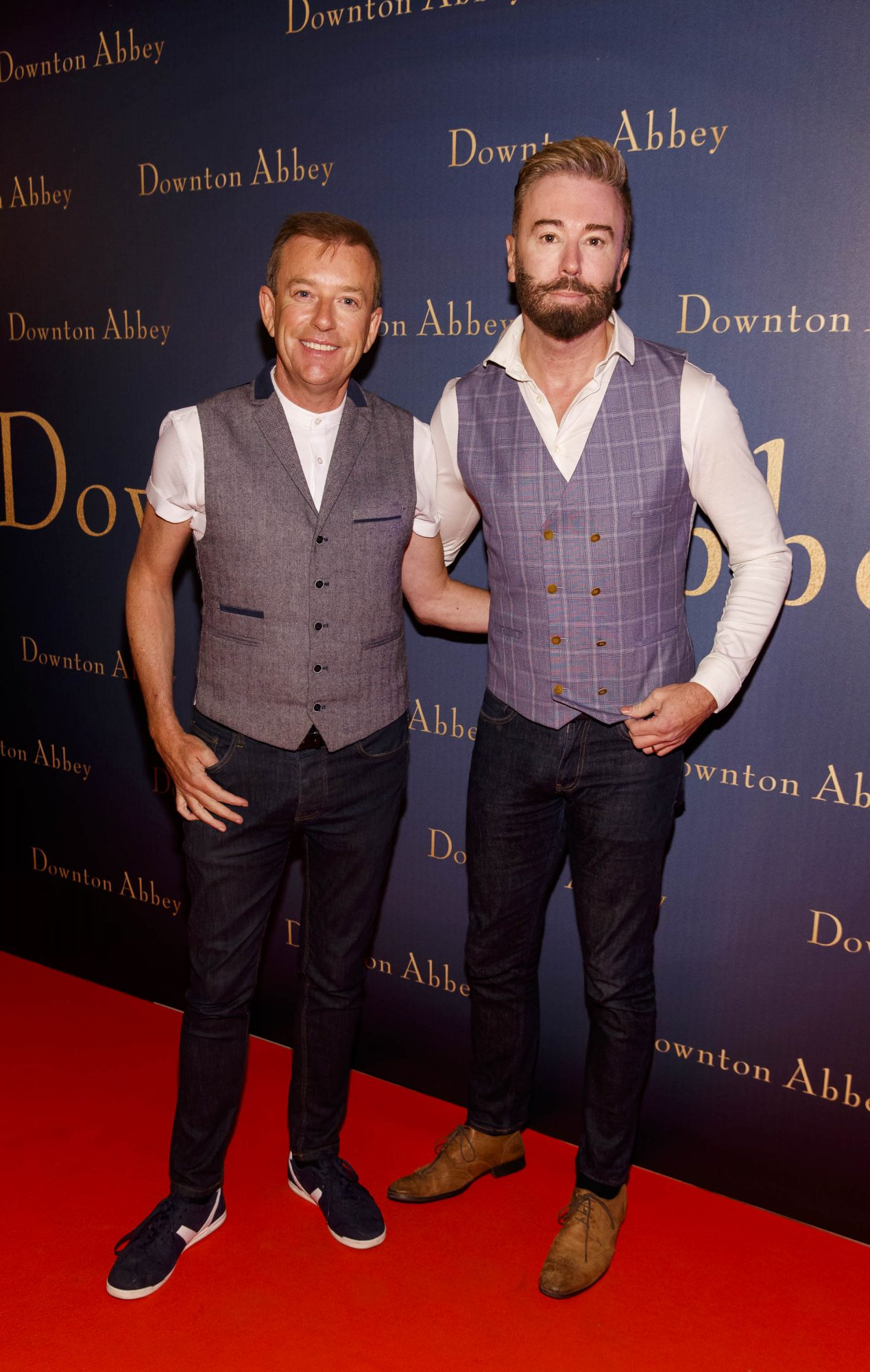 Alan Hughes and Karl Broderick pictured at the Universal Pictures Irish premiere screening of DOWNTON ABBEY at The Stella Theatre, Rathmines. Releasing in cinemas across Ireland from this Friday September 13th, starring the original cast, the worldwide phenomenon DOWNTON ABBEY, becomes a grand motion picture event. Picture Andres Poveda