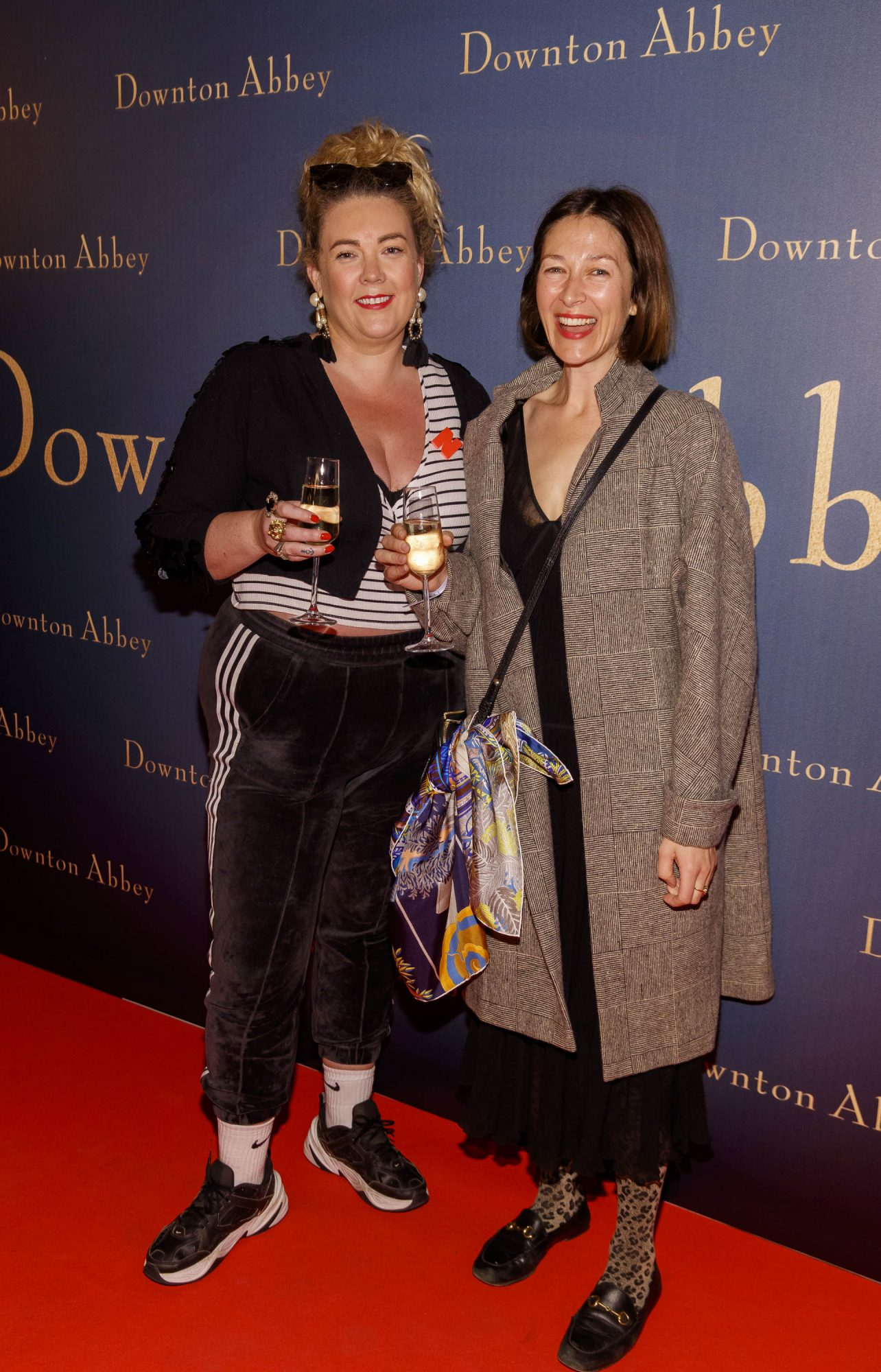 Andrea Horan and Natalie B Coleman pictured at the Universal Pictures Irish premiere screening of DOWNTON ABBEY at The Stella Theatre, Rathmines. Releasing in cinemas across Ireland from this Friday September 13th, starring the original cast, the worldwide phenomenon DOWNTON ABBEY, becomes a grand motion picture event. Picture Andres Poveda
