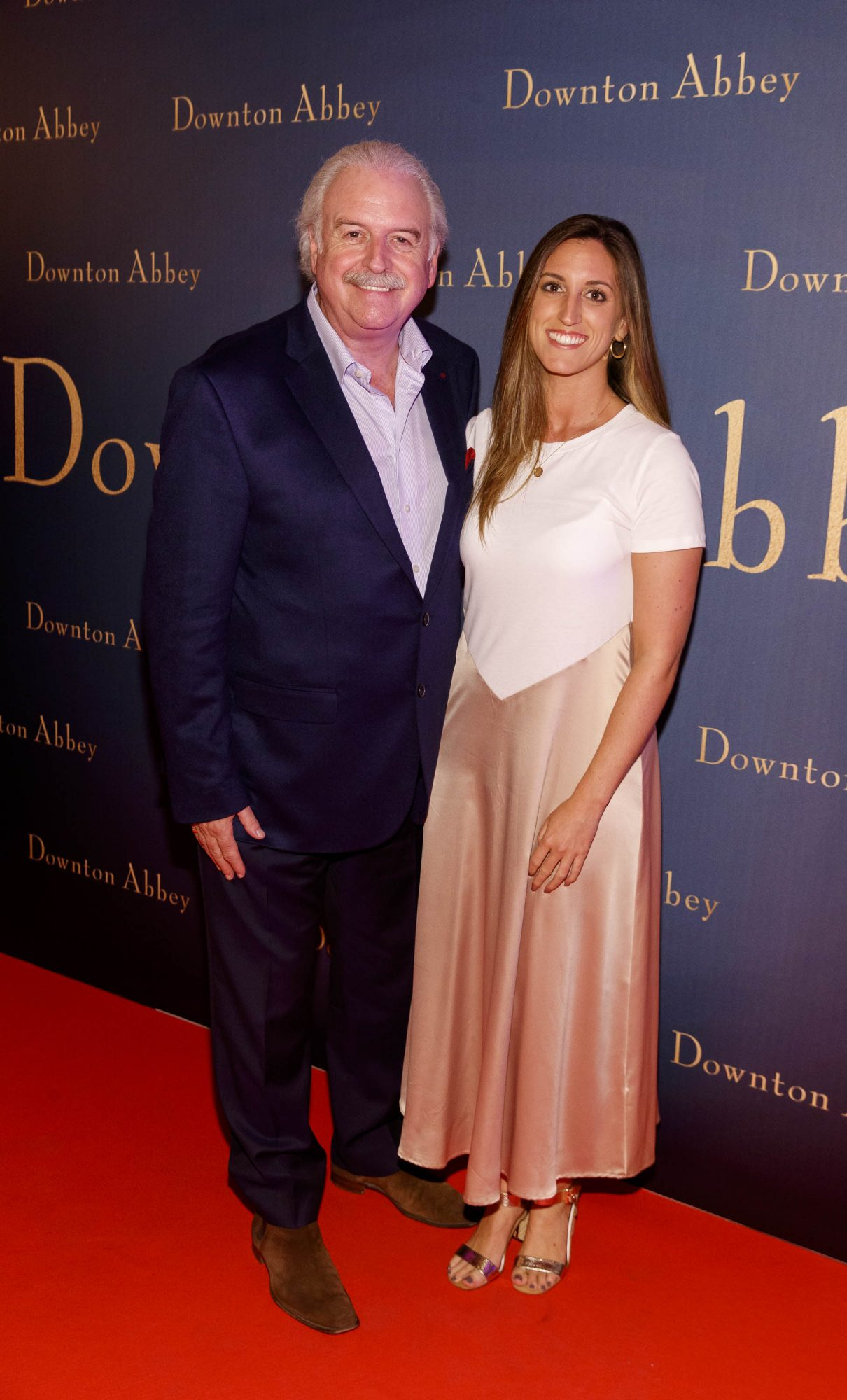 Marty Whelan and daughter Jessica  pictured at the Universal Pictures Irish premiere screening of DOWNTON ABBEY at The Stella Theatre, Rathmines. Releasing in cinemas across Ireland from this Friday September 13th, starring the original cast, the worldwide phenomenon DOWNTON ABBEY, becomes a grand motion picture event. Picture Andres Poveda