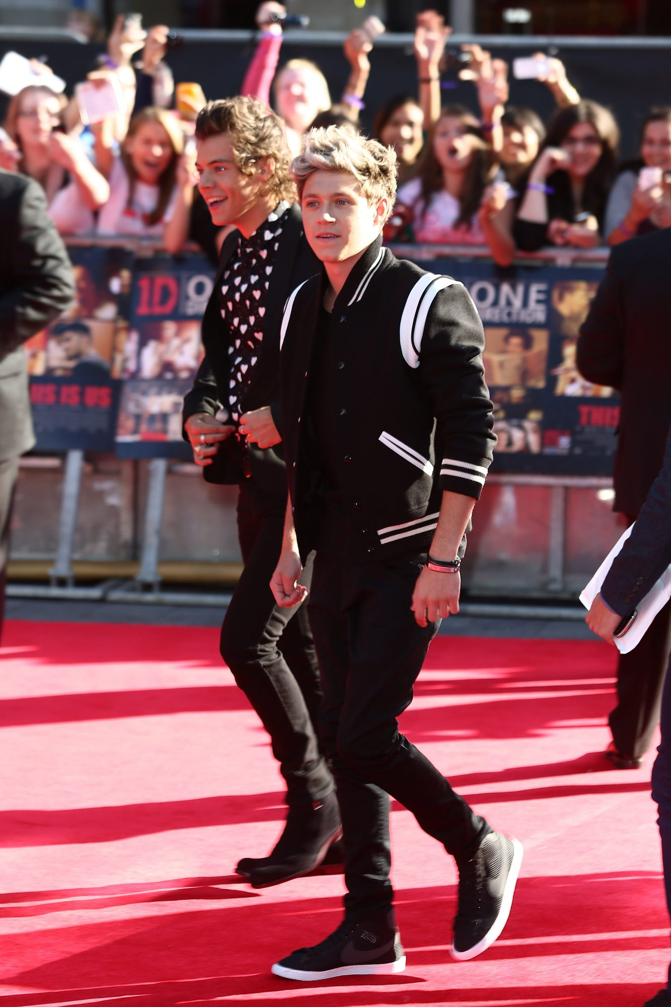 LONDON, ENGLAND - AUGUST 20:  (L-R) One Direction members Harry Styles and Niall Horan attend the World Premiere of 'One Direction: This Is Us' at Empire Leicester Square on August 20, 2013 in London, England.  (Photo by Tim P. Whitby/Getty Images)