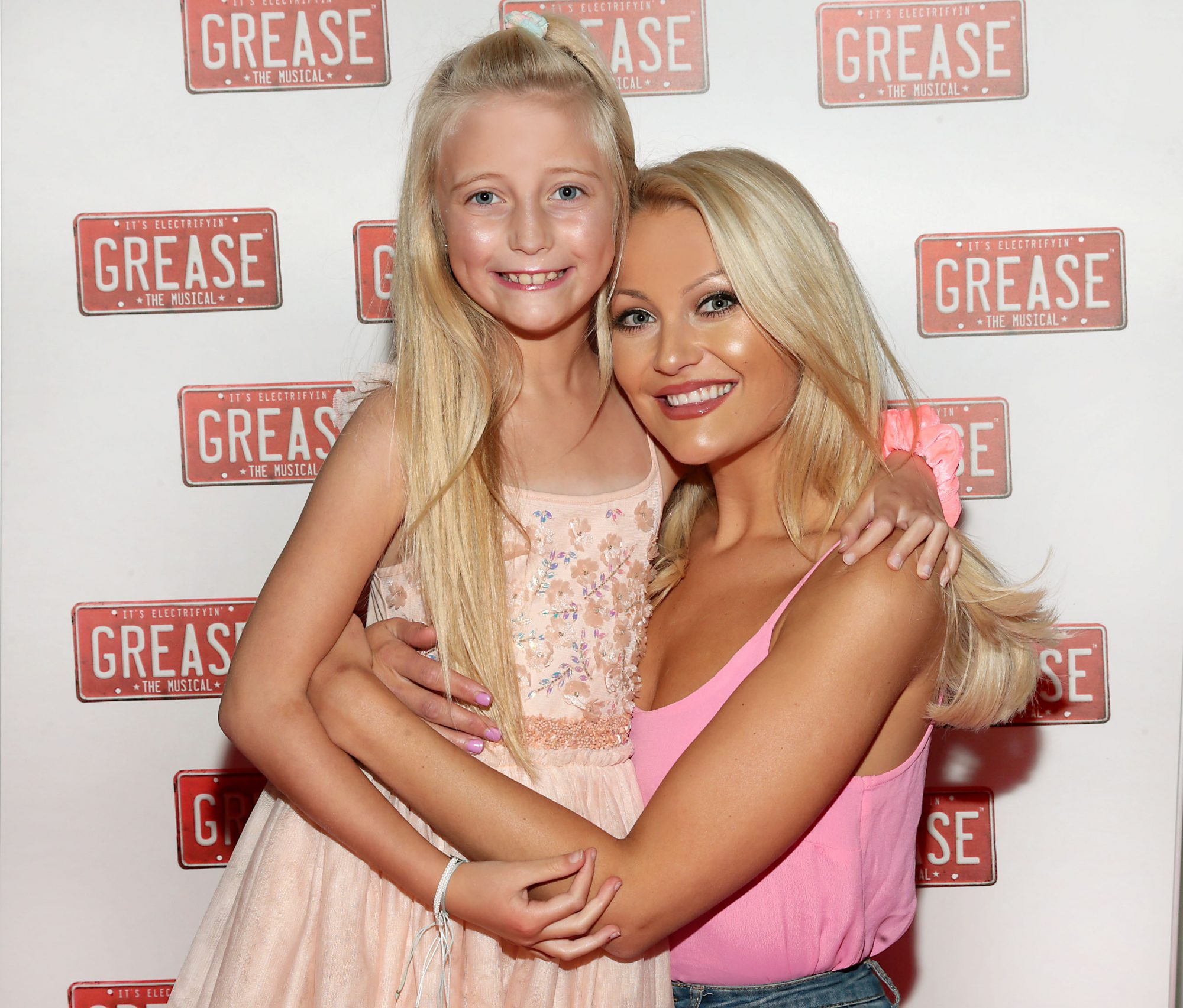 Model Kerri Nicole Blanc and daughter Kayla pictured at the opening night of the musical Grease at the Bord Gais Energy Theatre, Dublin. Pic: Brian McEvoy