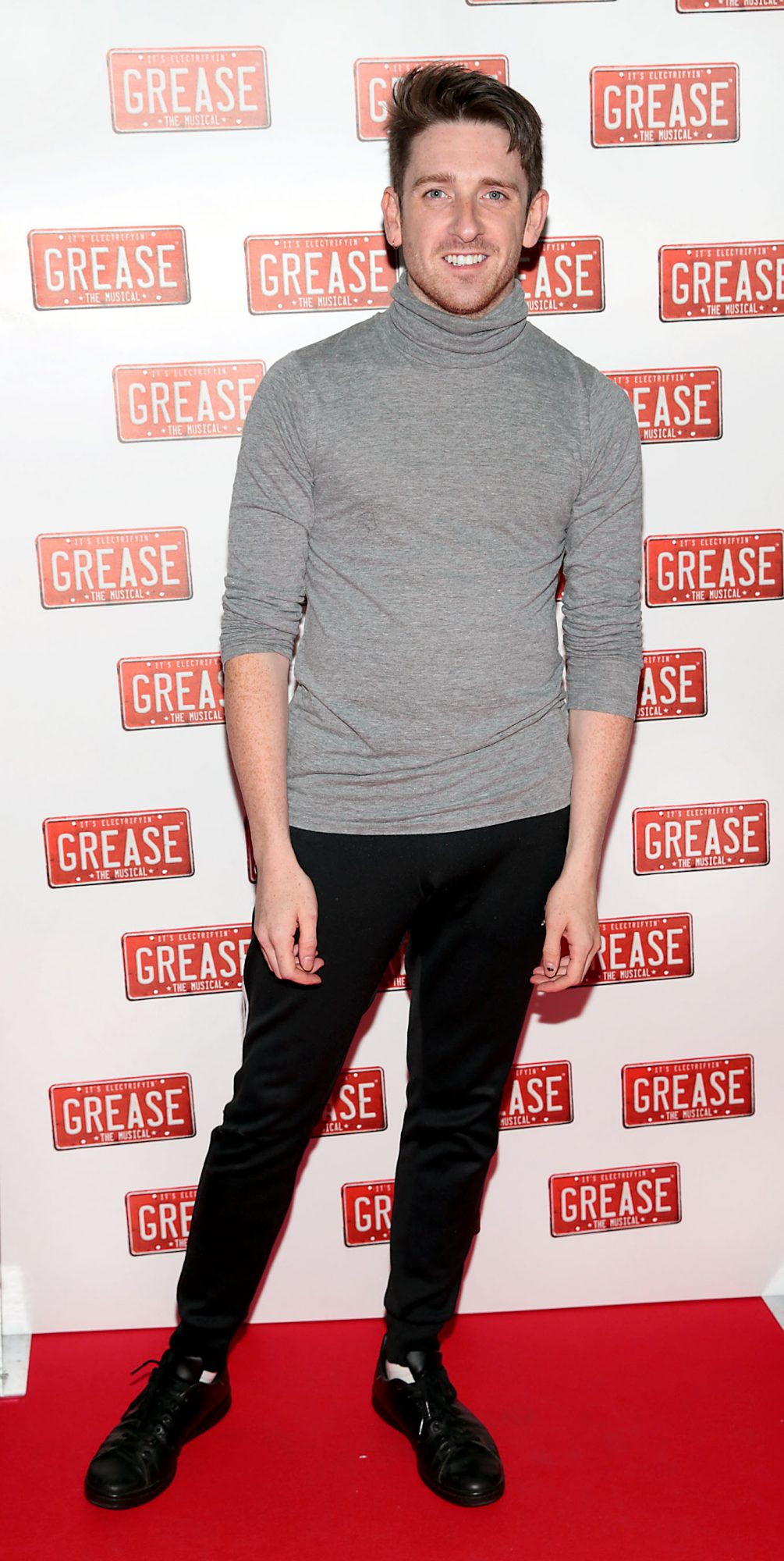 Stephen Byrne  pictured at the opening night of the musical Grease at the Bord Gais Energy Theatre, Dublin. Pic: Brian McEvoy