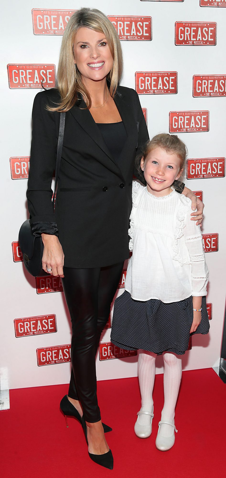 Jenny Buckley and daughter Jude  pictured at the opening night of the musical Grease at the Bord Gais Energy Theatre, Dublin. Pic: Brian McEvoy