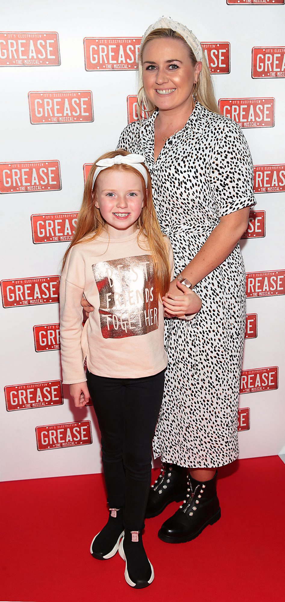 Bobbi Rose Scott and Jade Scott  pictured at the opening night of the musical Grease at the Bord Gais Energy Theatre, Dublin. Pic: Brian McEvoy