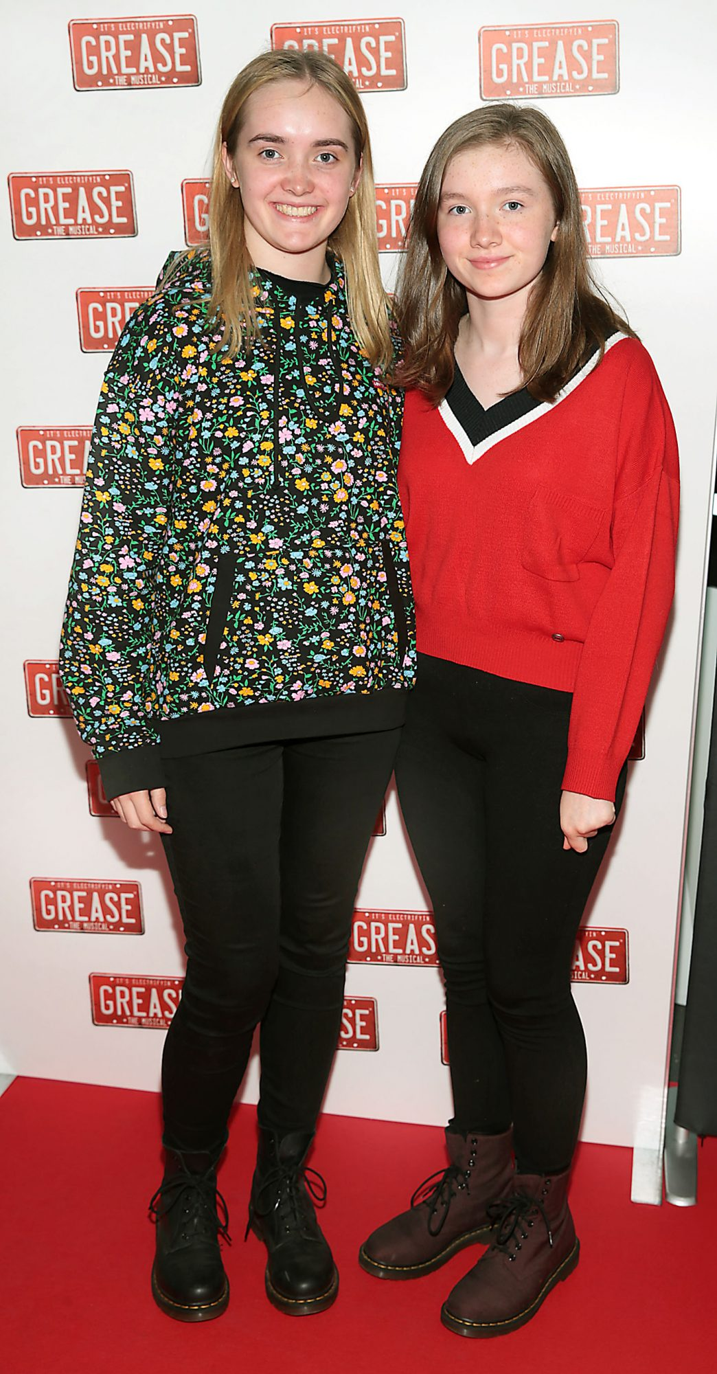 Jill Savage and Tara Savage pictured at the opening night of the musical Grease at the Bord Gais Energy Theatre, Dublin. Pic: Brian McEvoy