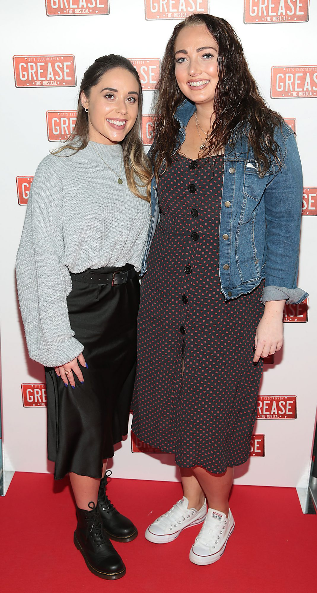 Kate Carr and Leah Fitzsimons pictured at the opening night of the musical Grease at the Bord Gais Energy Theatre, Dublin. Pic: Brian McEvoy