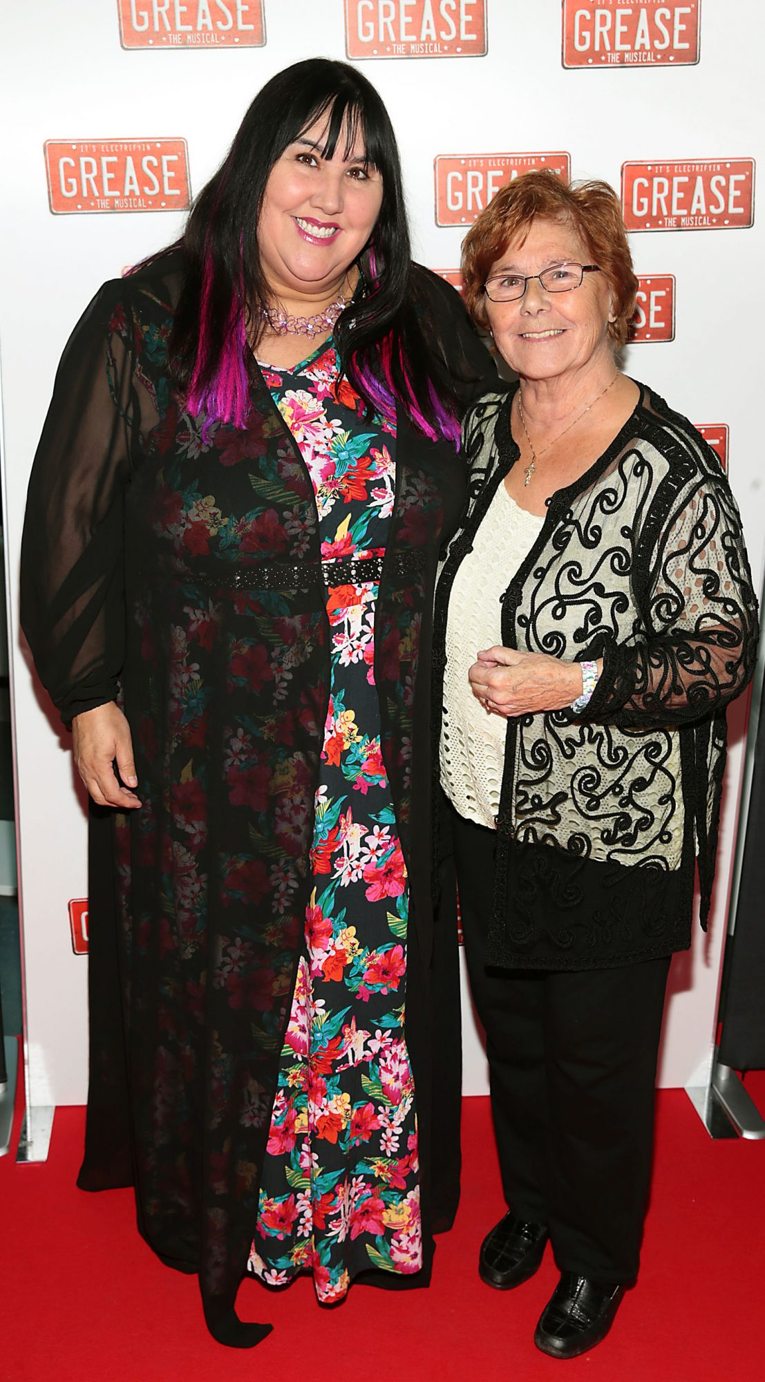 Andrea Smith and Eilenn Smith pictured at the opening night of the musical Grease at the Bord Gais Energy Theatre, Dublin. Pic: Brian McEvoy