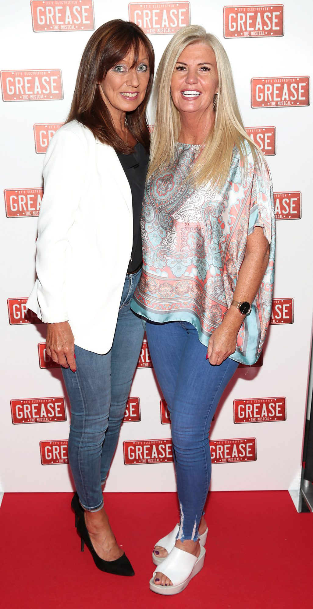 Maeve Carberry and Ann Whelan pictured at the opening night of the musical Grease at the Bord Gais Energy Theatre, Dublin. Pic: Brian McEvoy