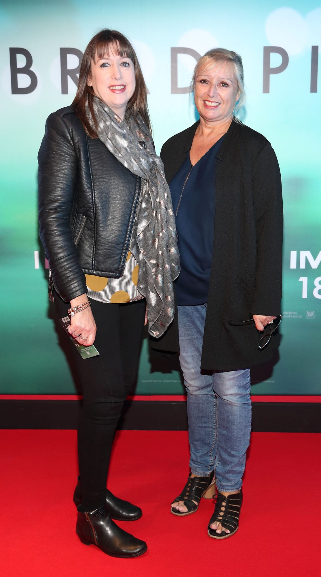 Deirdre Kerslake and Paula Brennan at the special preview screening of Ad Astra at Cineworld, Dublin. Pic: Brian McEvoy Photography