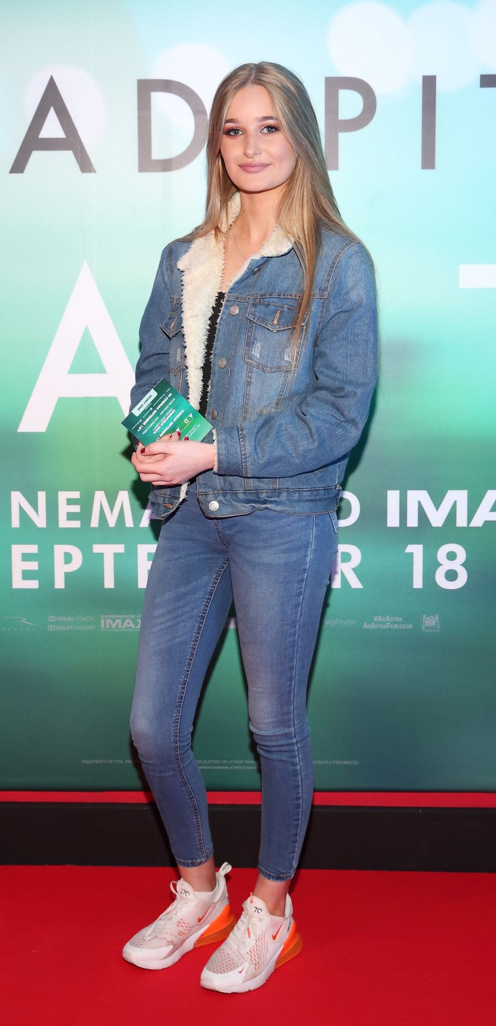 Izzy McDermott at the special preview screening of Ad Astra at Cineworld, Dublin. Pic: Brian McEvoy Photography