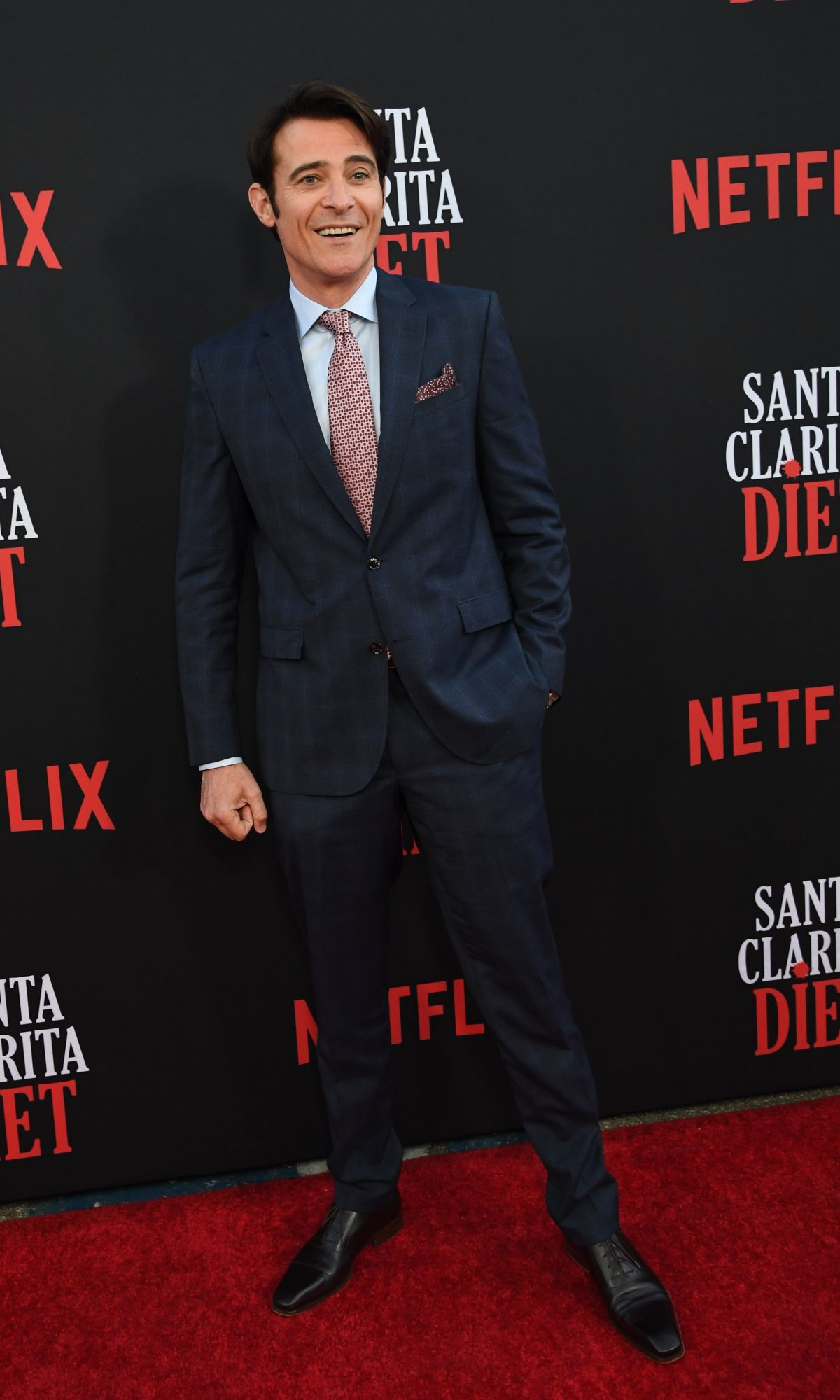 """US/Croatian actor Goran Visnjic attends the premiere of Netflix's """"Santa Clarita Diet"""" Season 3, at Hollywood Post 43 in Hollywood on March 28, 2019. (Photo by Robyn Beck / AFP)        (Photo credit should read ROBYN BECK/AFP/Getty Images)"""