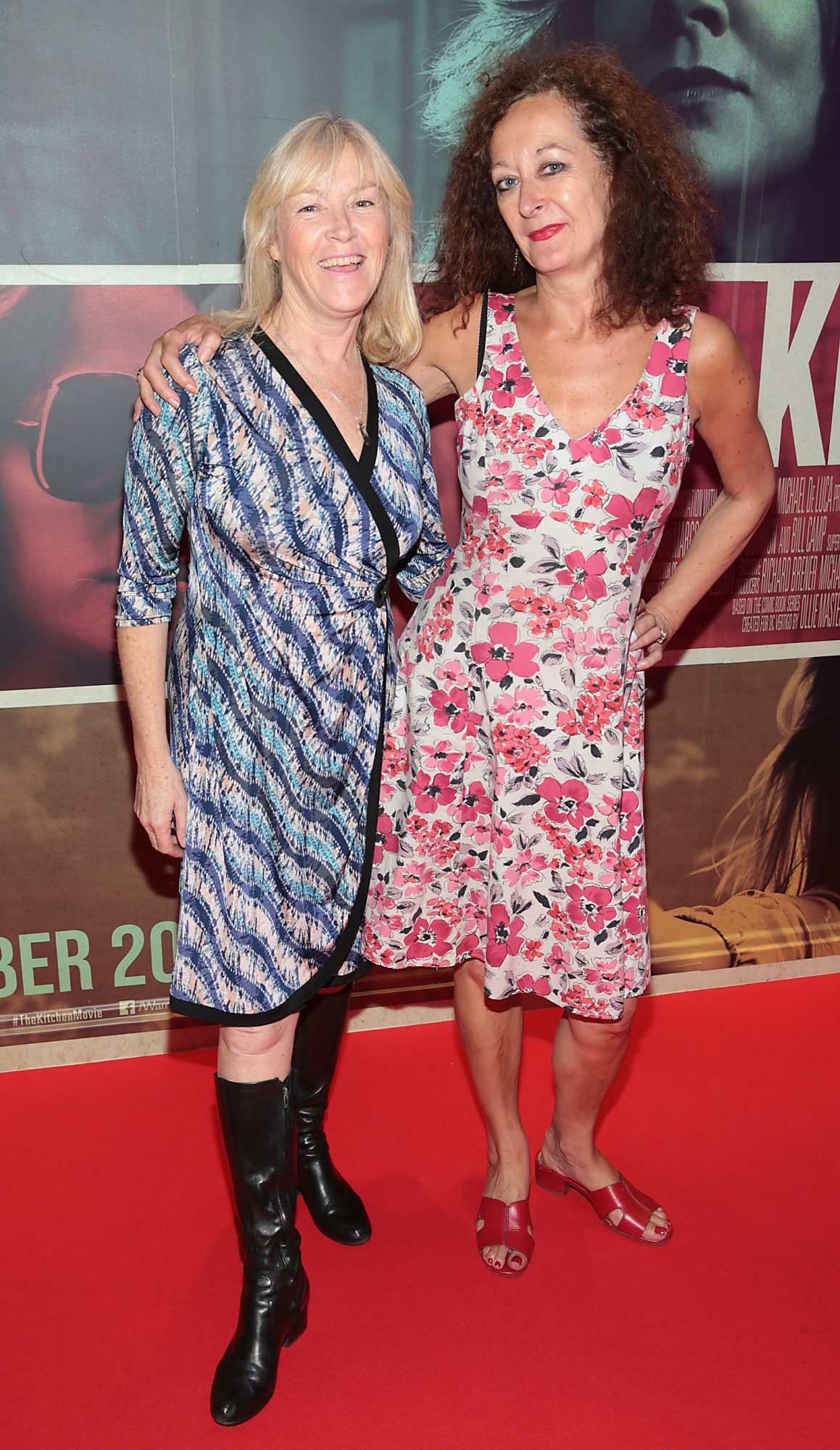 Clodagh Cullen and Linda Dagge at the special preview screening of The Kitchen at Cineworld, Dublin.  Picture: Brian McEvoy