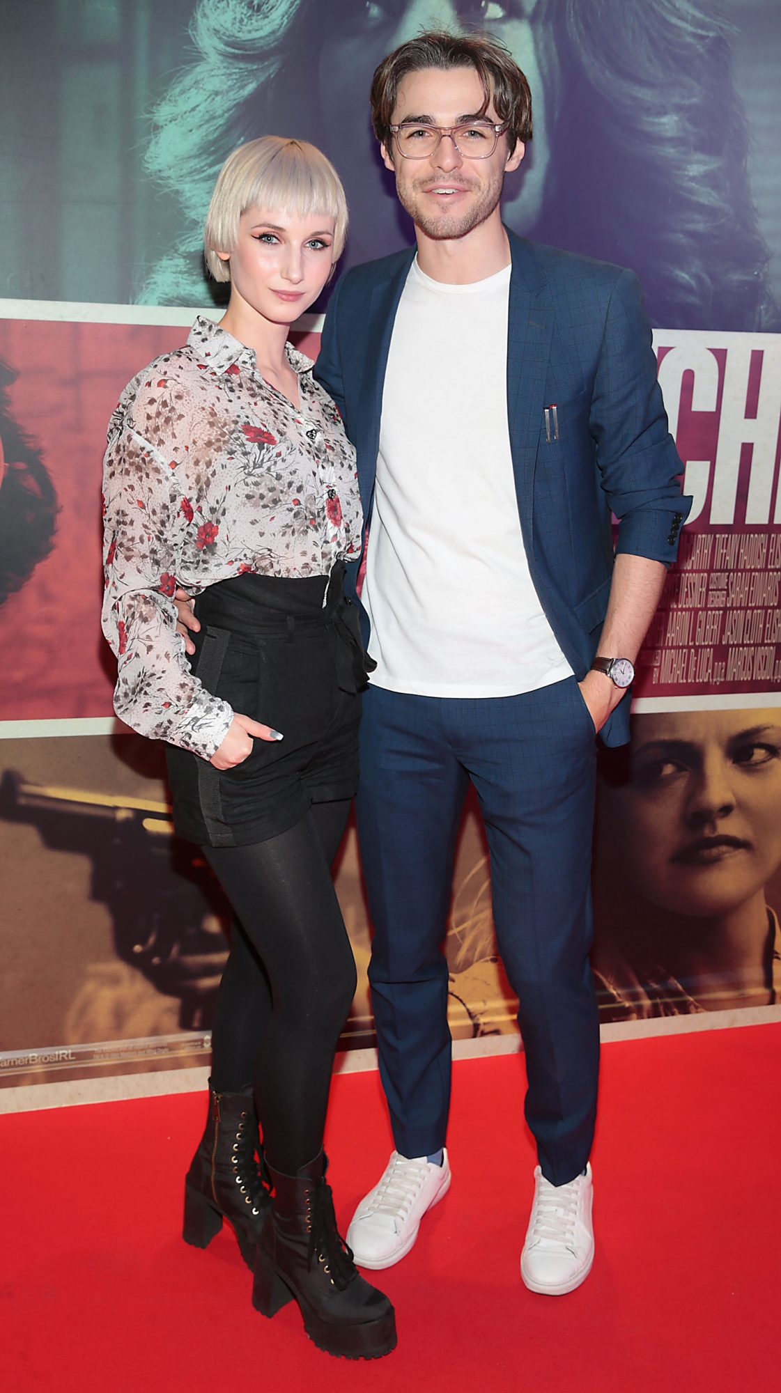 Sara Berger and Vincent O Byrne at the special preview screening of The Kitchen at Cineworld, Dublin.  Picture: Brian McEvoy