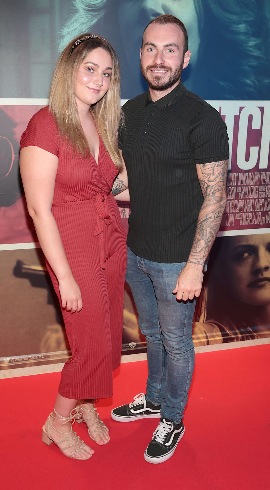 Dylan McNulty and Sarah Breen at the special preview screening of The Kitchen at Cineworld, Dublin.  Picture: Brian McEvoy