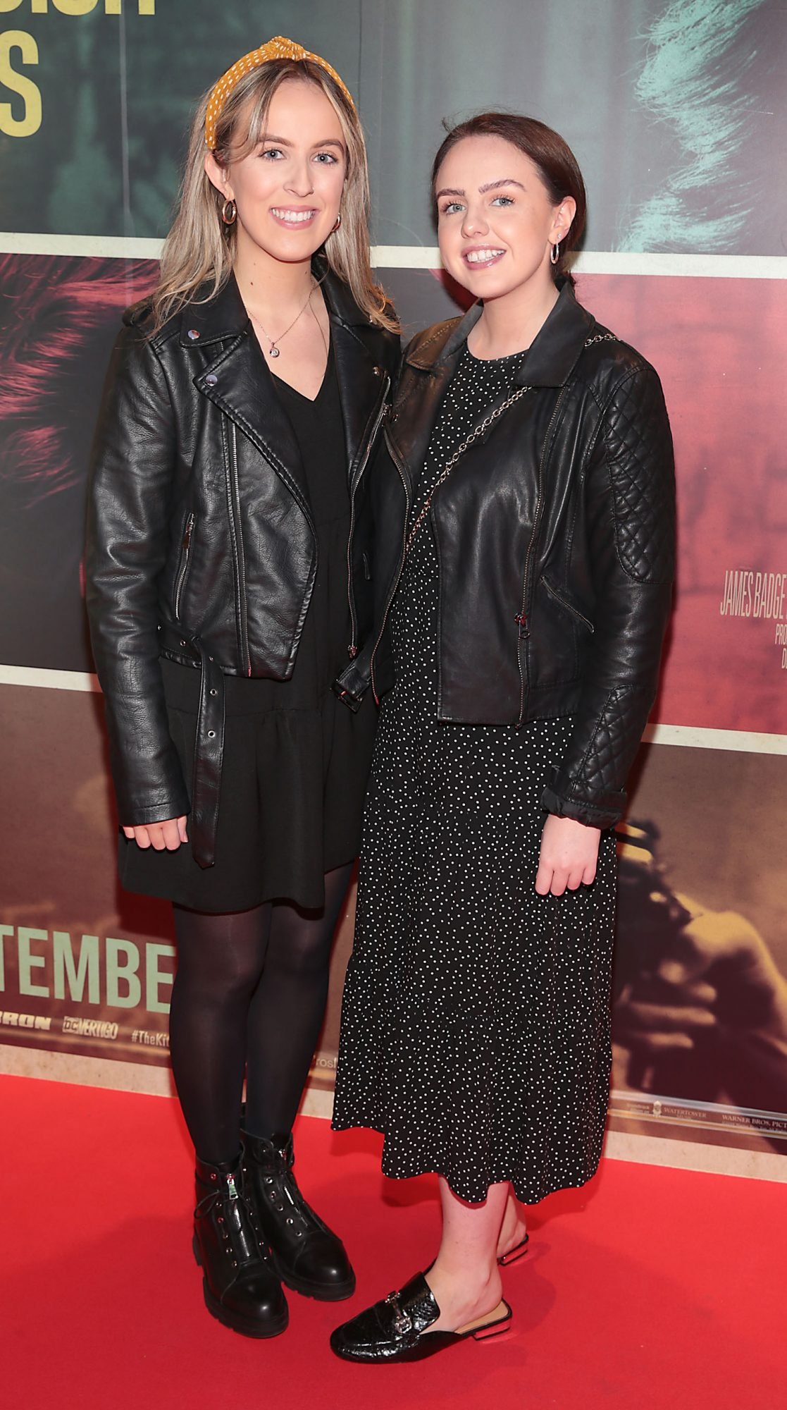 Carla McCluskey and Katie Boyle at the special preview screening of The Kitchen at Cineworld, Dublin.  Picture: Brian McEvoy