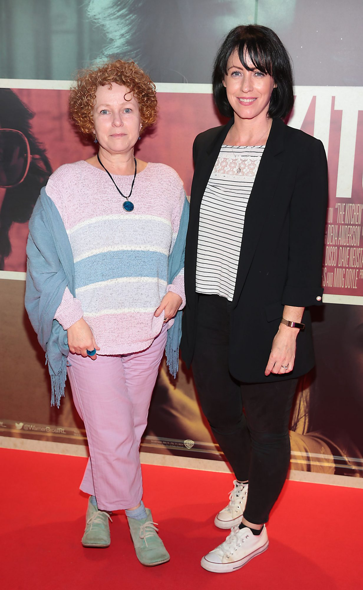 Ally Ni Chiarain anf Maura Foley at the special preview screening of The Kitchen at Cineworld, Dublin.  Picture: Brian McEvoy