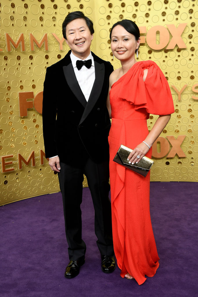 Ken Jeong and Tran Jeong attend the 71st Emmy Awards at Microsoft Theater on September 22, 2019 in Los Angeles, California. (Photo by Frazer Harrison/Getty Images)