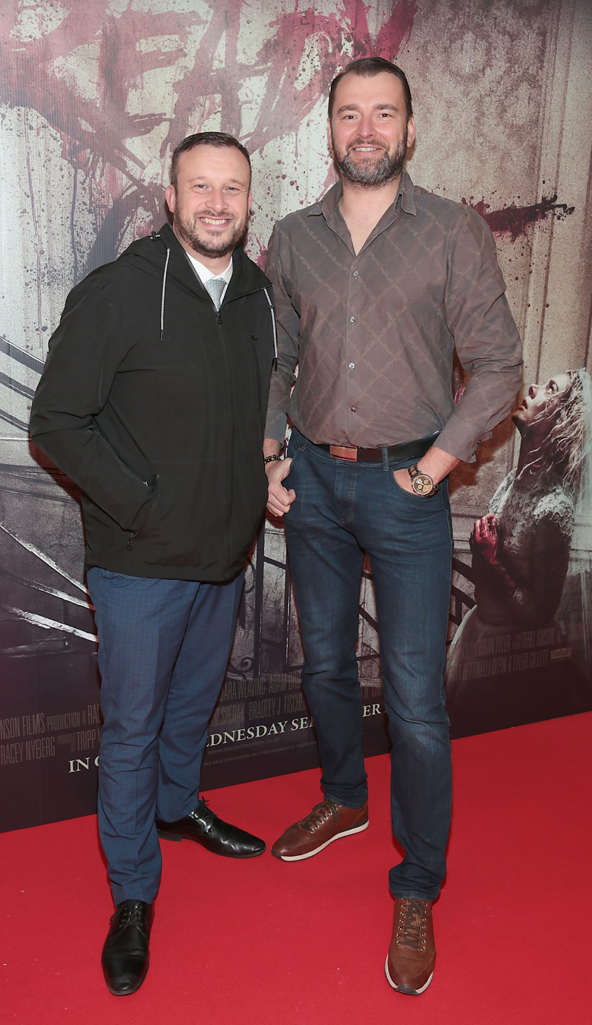 John Kearns and Piotr Jankowski  pictured at the special preview screening of Ready or Not at the Lighthouse Cinema, Dublin. Pic: Brian McEvoy