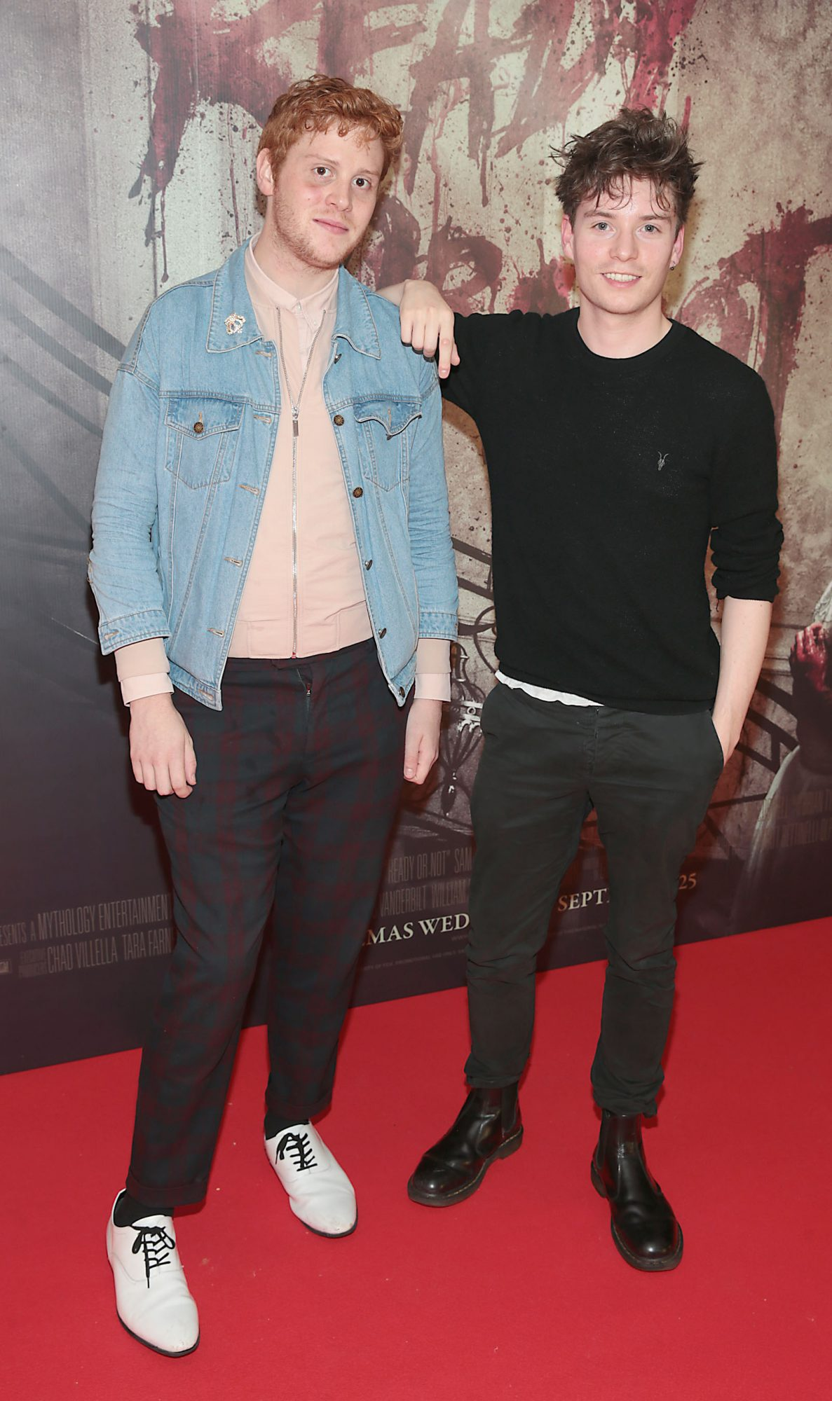 Andy Morris and Emmet Barry pictured at the special preview screening of Ready or Not at the Lighthouse Cinema, Dublin. Pic: Brian McEvoy