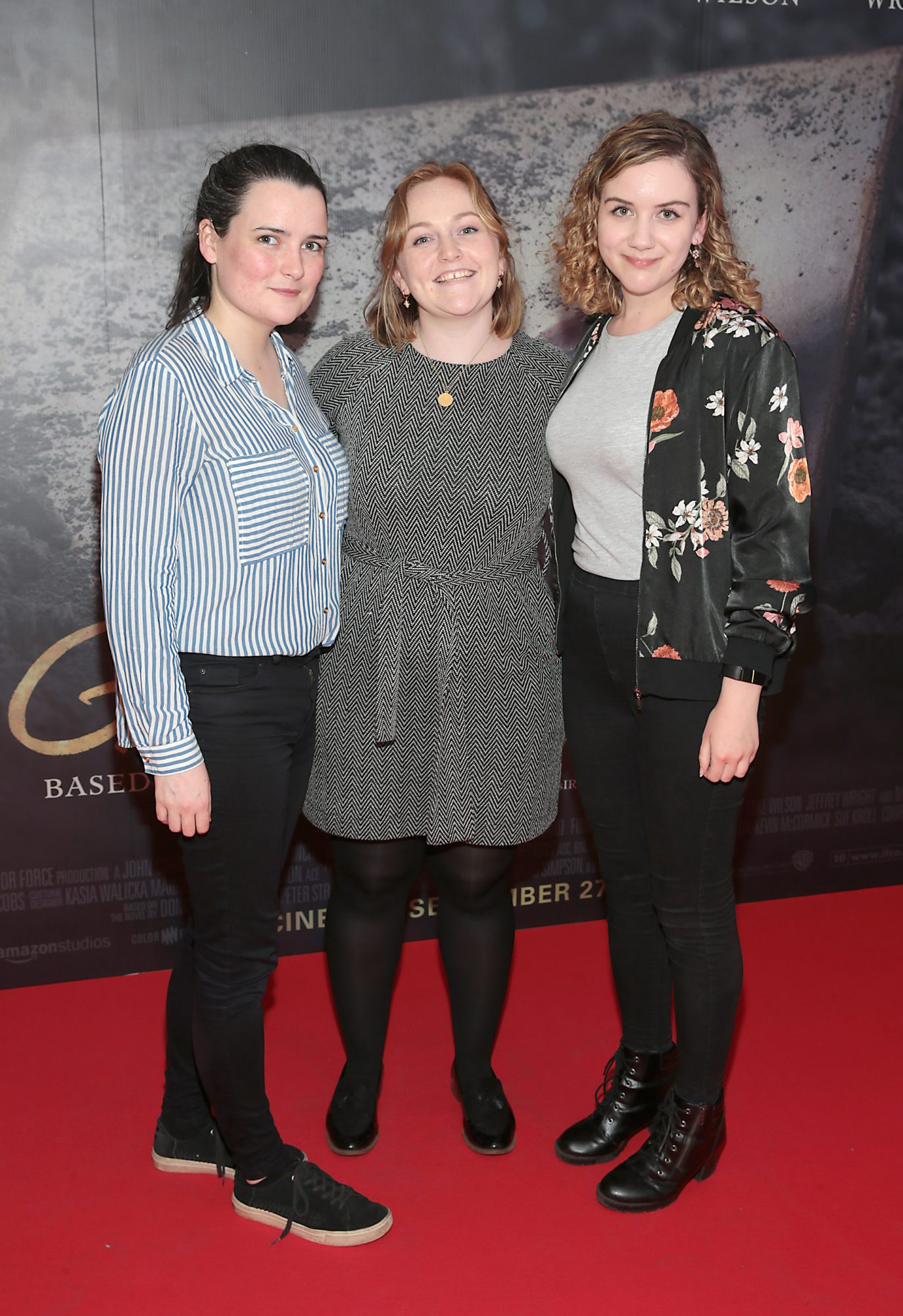 Aoife Ward,Emma McDonnell and Siomha McQuinn pictured at the Irish Premiere screening of The Goldfinch at the Lighthouse Cinema, Dublin.  Picture: Brian McEvoy.