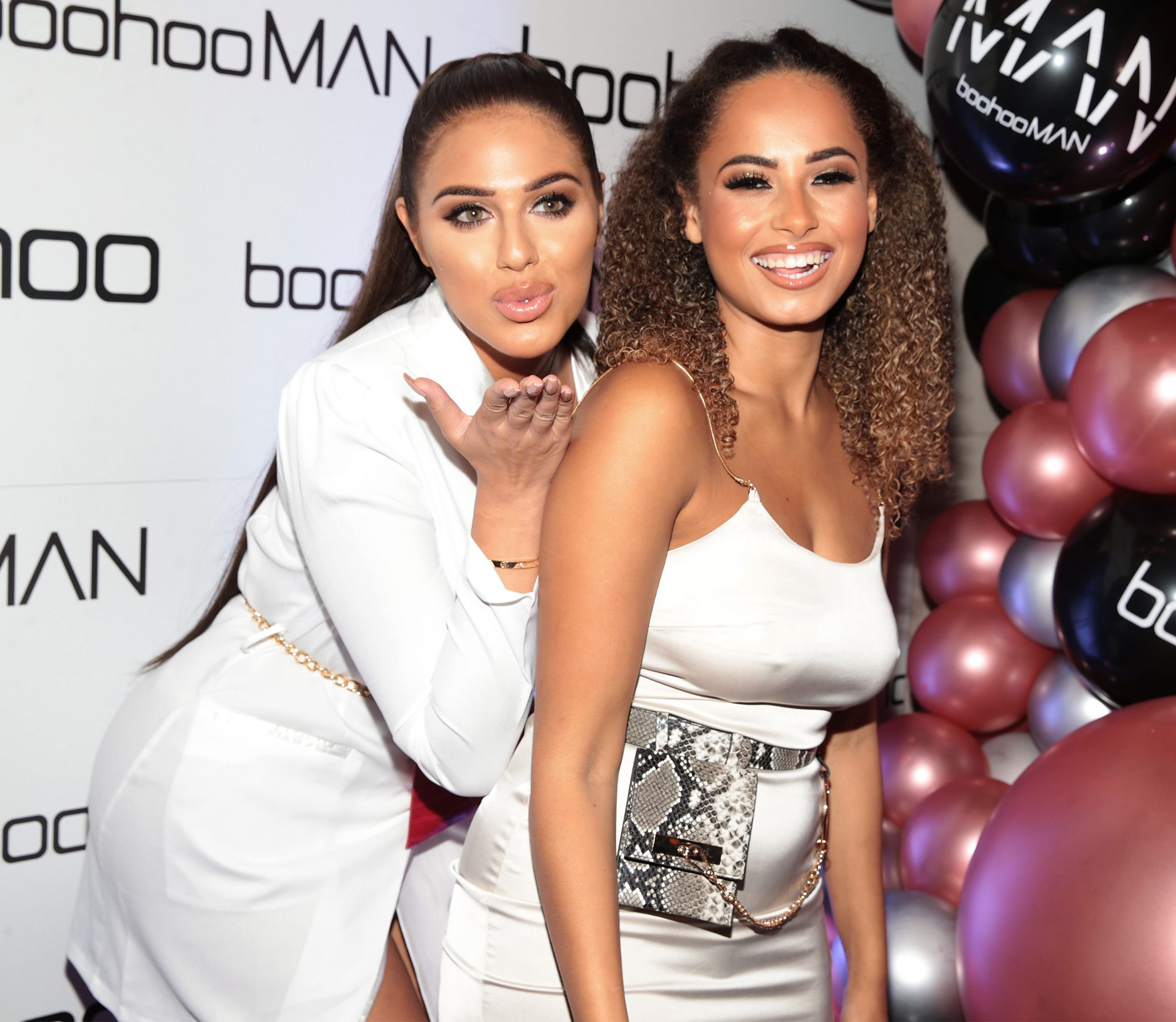Love Island stars Anna Vakili and Amber Gill at the Boohoo and BoohooMAN Ambassador Party in The Devlin Hotel, Ranelagh.  Picture: Brian McEvoy