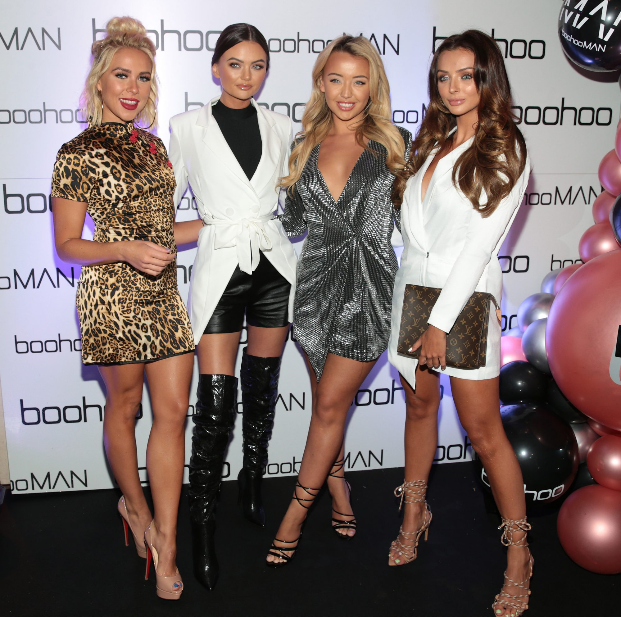Love Island stars Gabby Allen, Kendall Knight, Harley Brash and Kady McDermott at the Boohoo and BoohooMAN Ambassador Party in The Devlin Hotel, Ranelagh.  Picture: Brian McEvoy