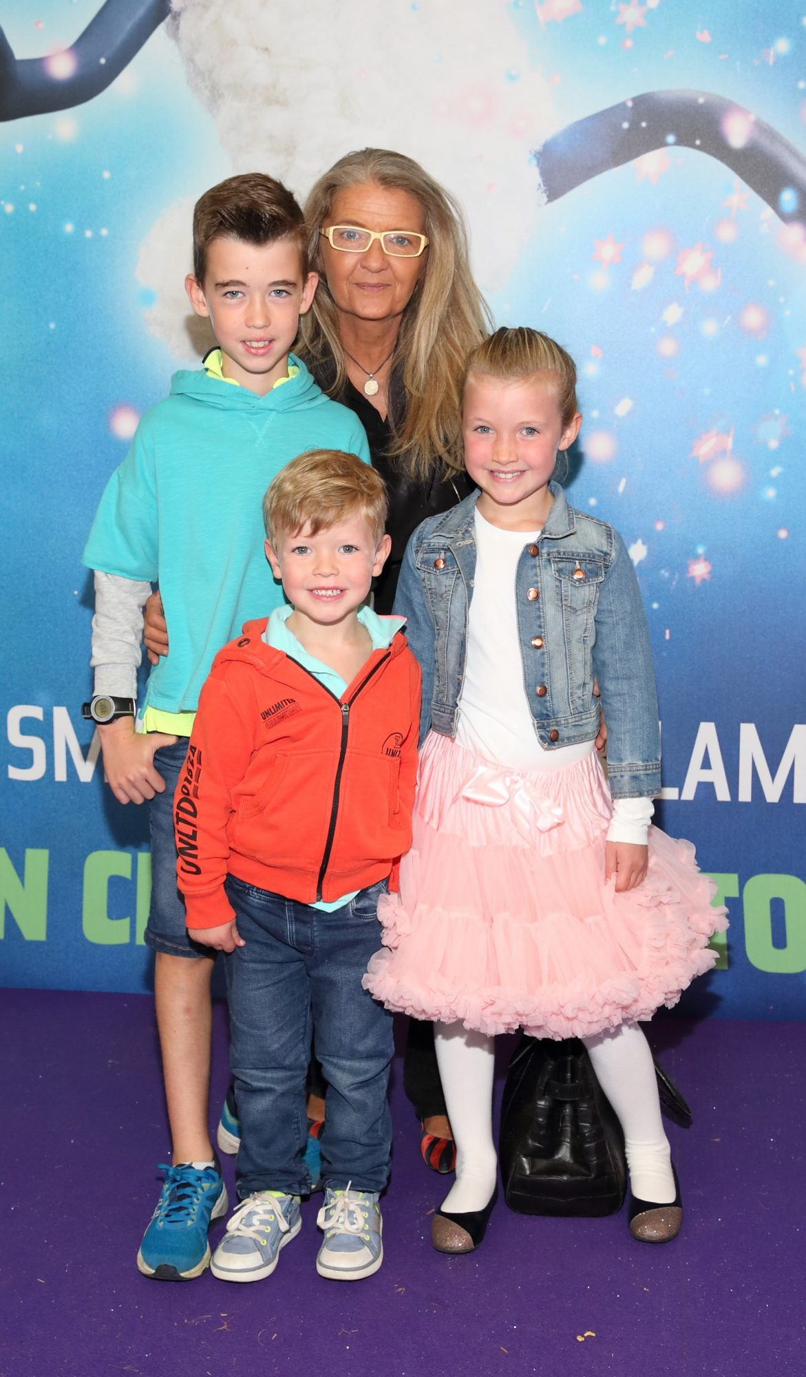Eoin McGarry, Janette McGarry, Laura McGarry and Andrew McGarry  at the special preview screening of Shaun the Sheep at the Odeon Cinema In Point Square, Dublin.  Pic: Brian McEvoy Photography