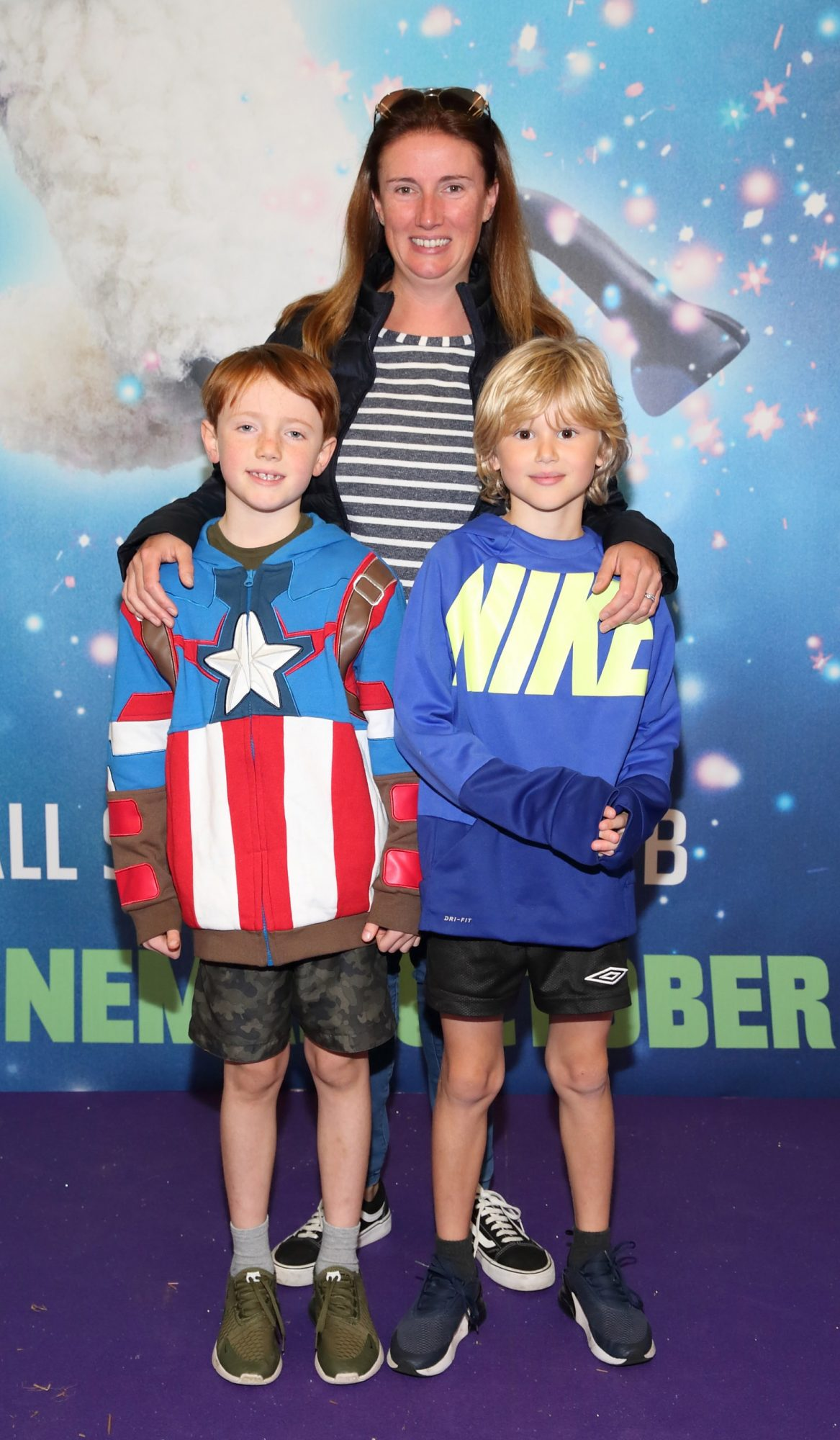 Gillian McGowan, Leon McGowan and Tim Scanlon at the special preview screening of Shaun the Sheep at the Odeon Cinema In Point Square, Dublin.  Pic: Brian McEvoy Photography