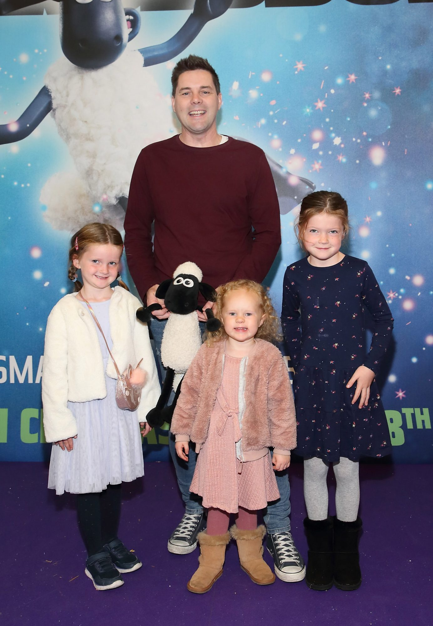 Marty Miller, Ella Prenty, Eleanor Miller and Amy Miller  at the special preview screening of Shaun the Sheep at the Odeon Cinema In Point Square, Dublin.  Pic: Brian McEvoy Photography