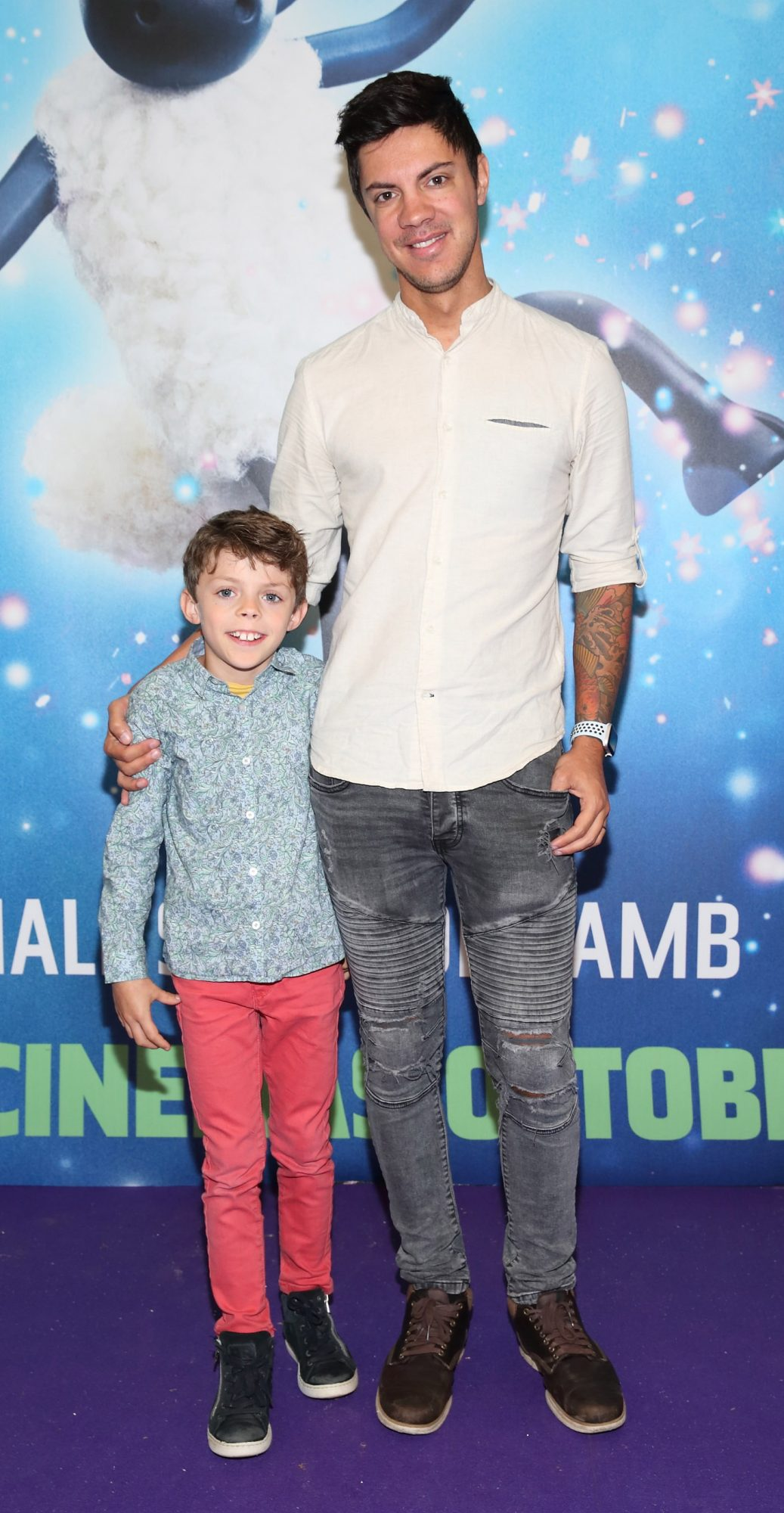 Luca Hengst and Thierry Hengst at the special preview screening of Shaun the Sheep at the Odeon Cinema In Point Square, Dublin.  Pic: Brian McEvoy Photography