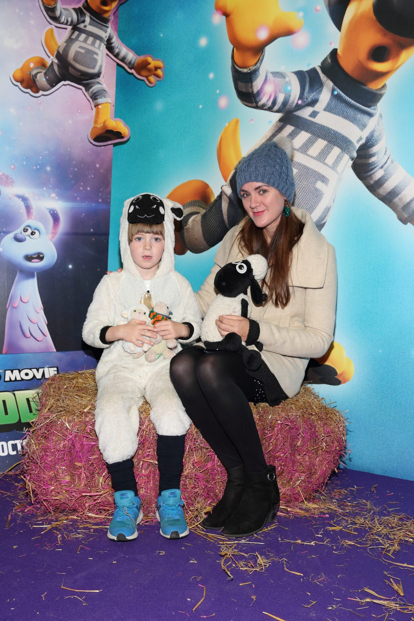 Hugo O'Toole and Nicola Giffney at the special preview screening of Shaun the Sheep at the Odeon Cinema In Point Square, Dublin.  Pic: Brian McEvoy Photography