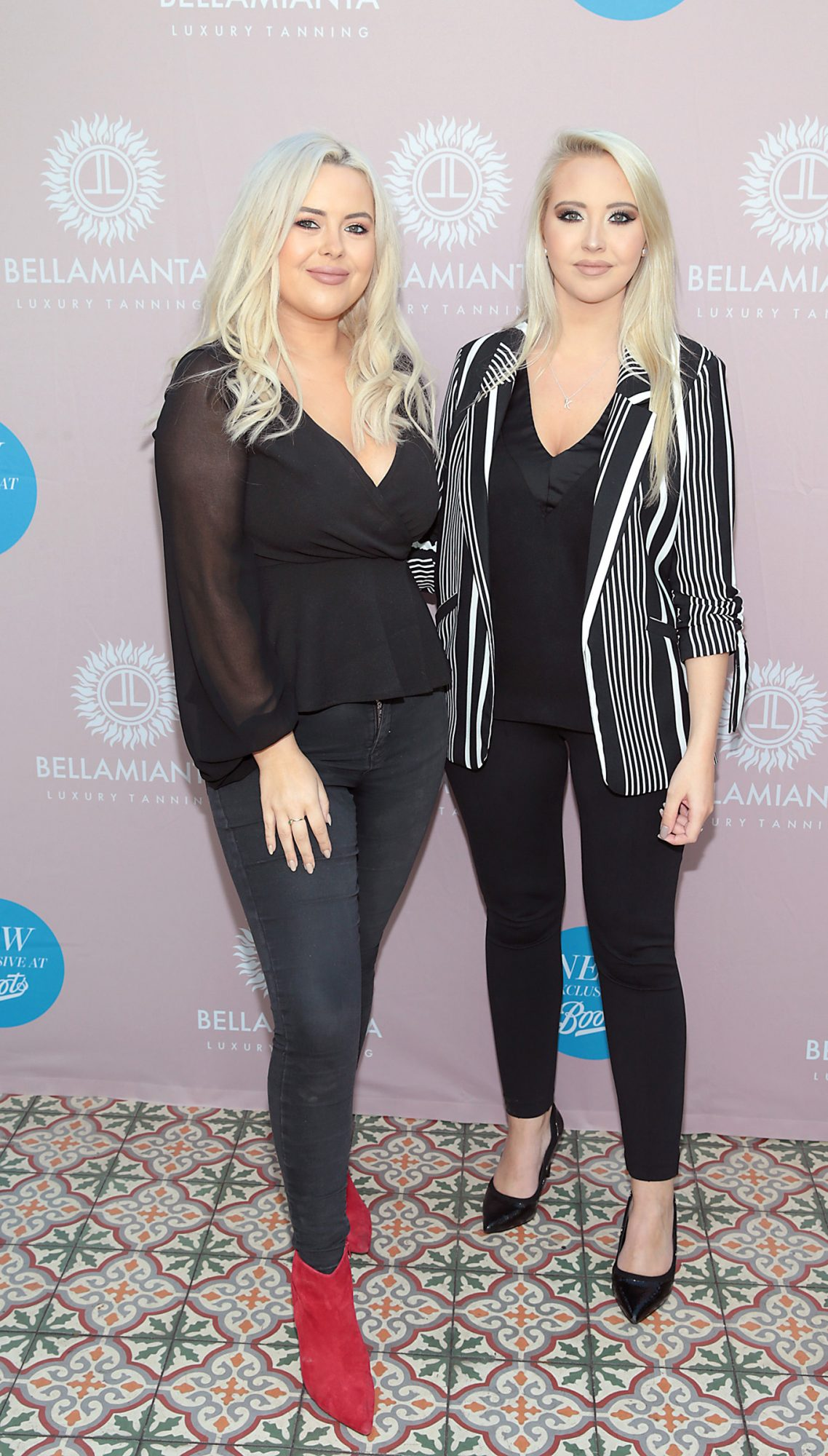 Ali Ryan and Kendra Becker at the Bellamianta Tan Glow Gorgeous Gift Set launch with Boots at House, Dublin.   Pic: Brian McEvoy.