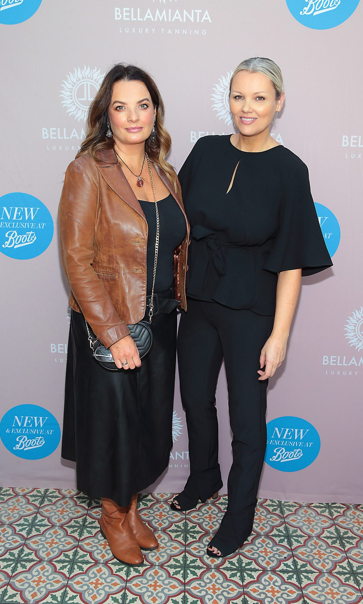 Nicola Lynch and Paula Callan at the Bellamianta Tan Glow Gorgeous Gift Set launch with Boots at House, Dublin.   Pic: Brian McEvoy.